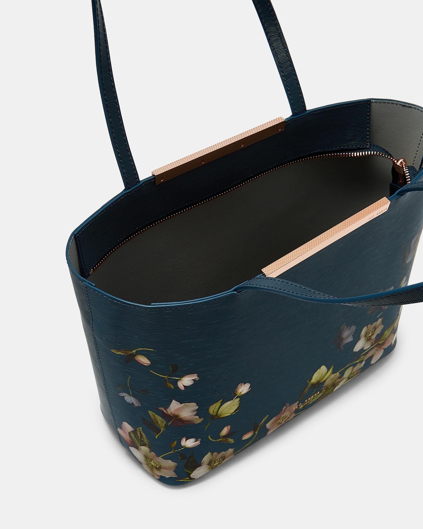 9a94c5b037c8 Lyst - Ted Baker Arboretum Mini Leather Shopper Bag in Blue
