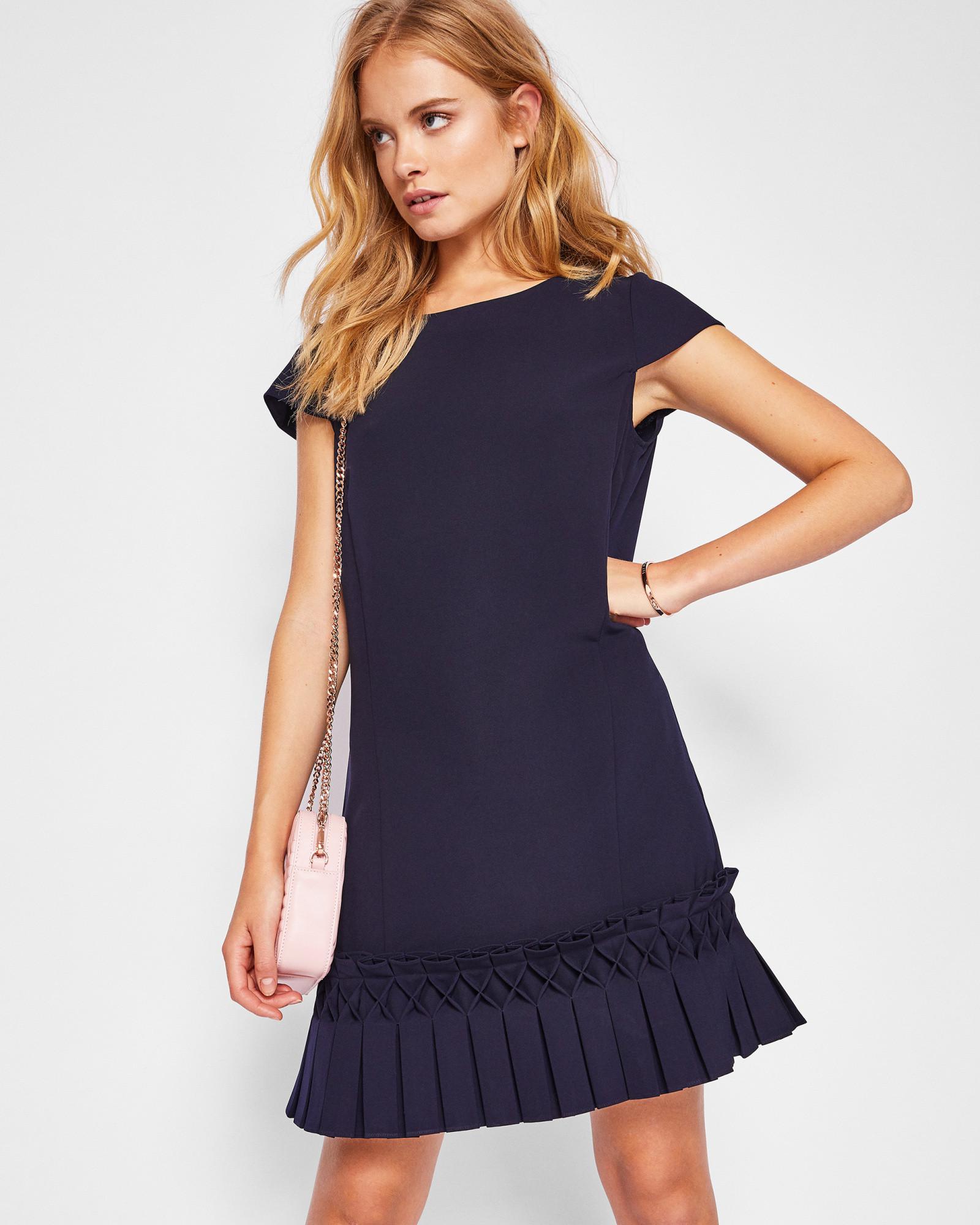 4f953aec63 Ted Baker Abana Dropped Waist Pleated Skirt Dress