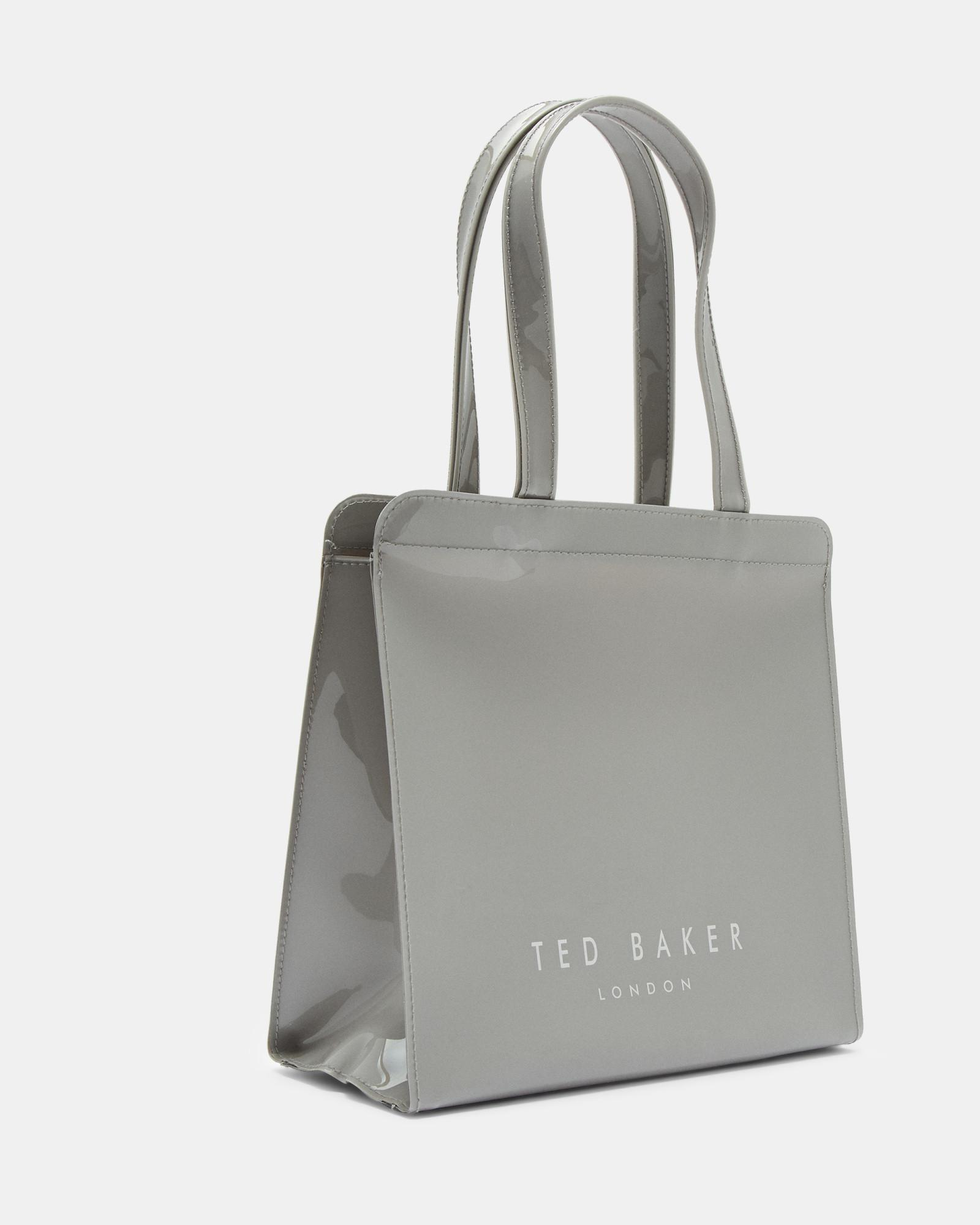 8e9e50a88e1b Ted Baker - Gray Bow Detail Small Icon Bag - Lyst. View fullscreen