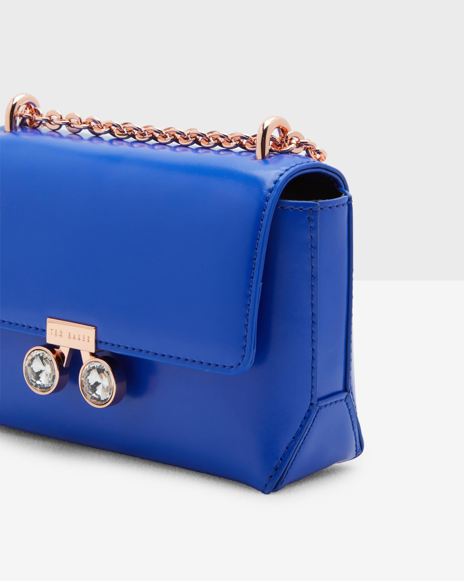 f7d731eb1f847 Ted Baker - Blue Crystal Bobble Leather Cross Body Bag - Lyst. View  fullscreen