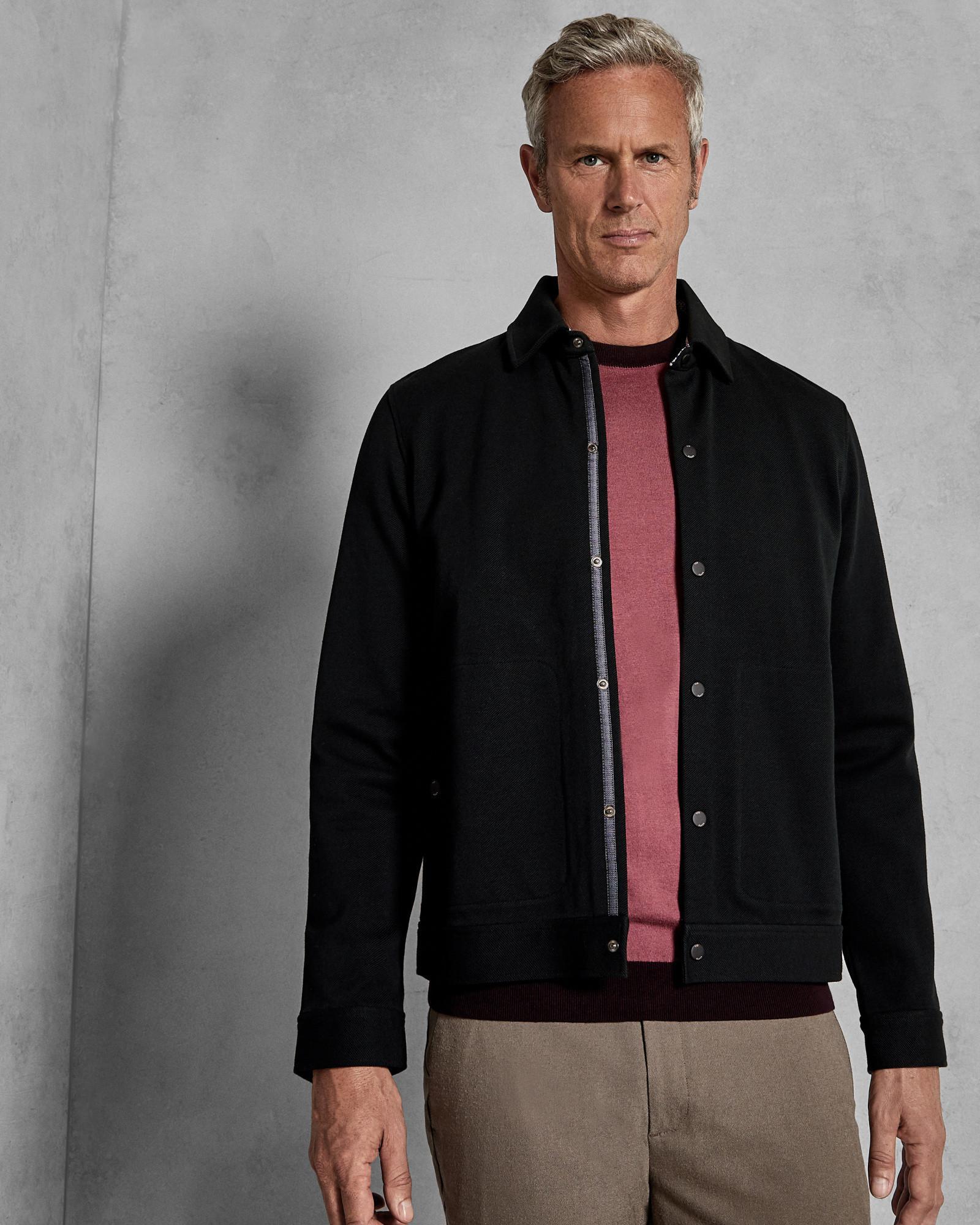 7d4802d3624f3c Ted Baker Twill Jacket in Black for Men - Lyst