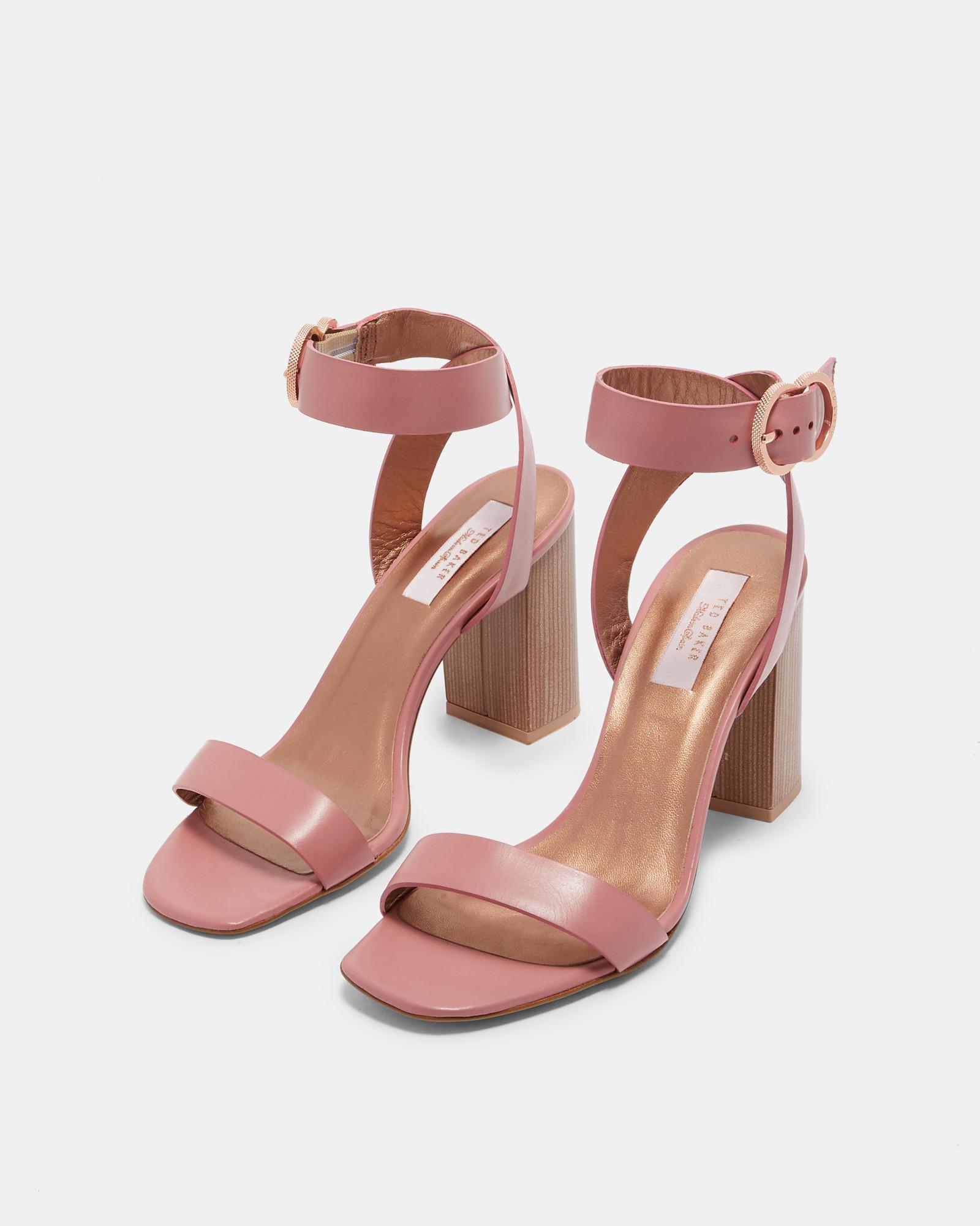 434c17214 Lyst - Ted Baker Block Heel Sandals in Pink