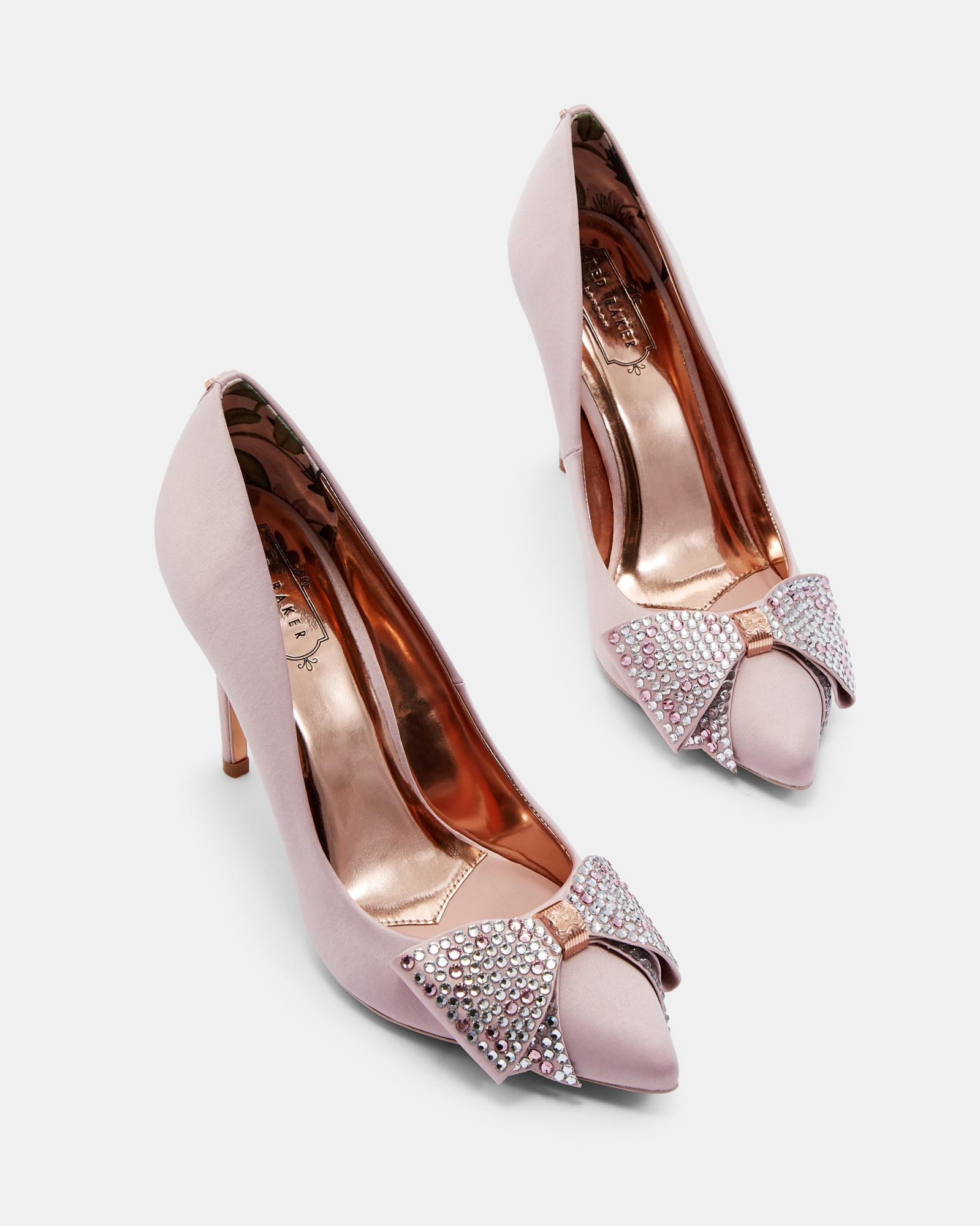 71cc1326c06 Lyst - Ted Baker Bow Detail Courts in Pink