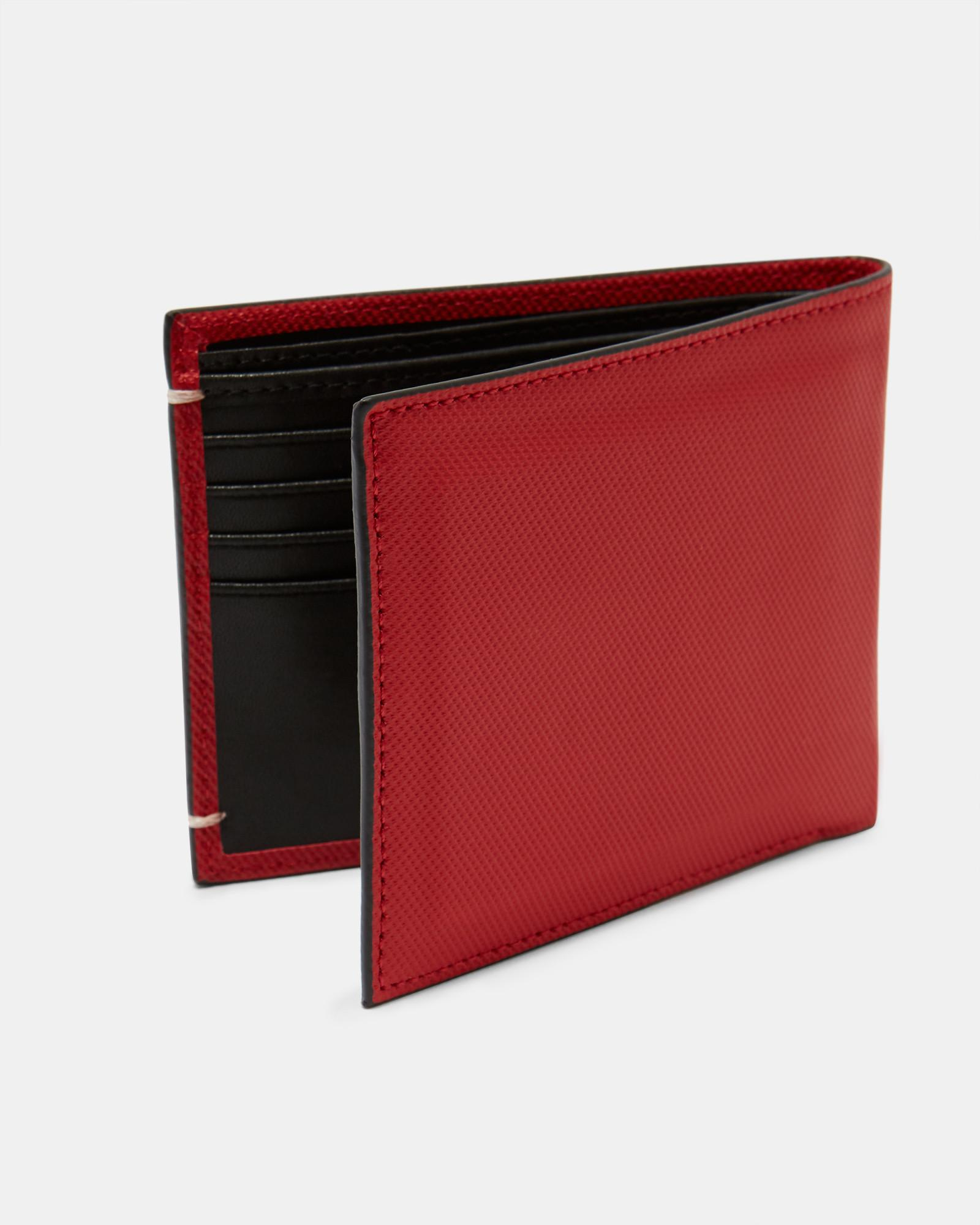 f8c2f42655053 Lyst Ted Baker Perforated Leather Bi Fold Wallet In Red For Men