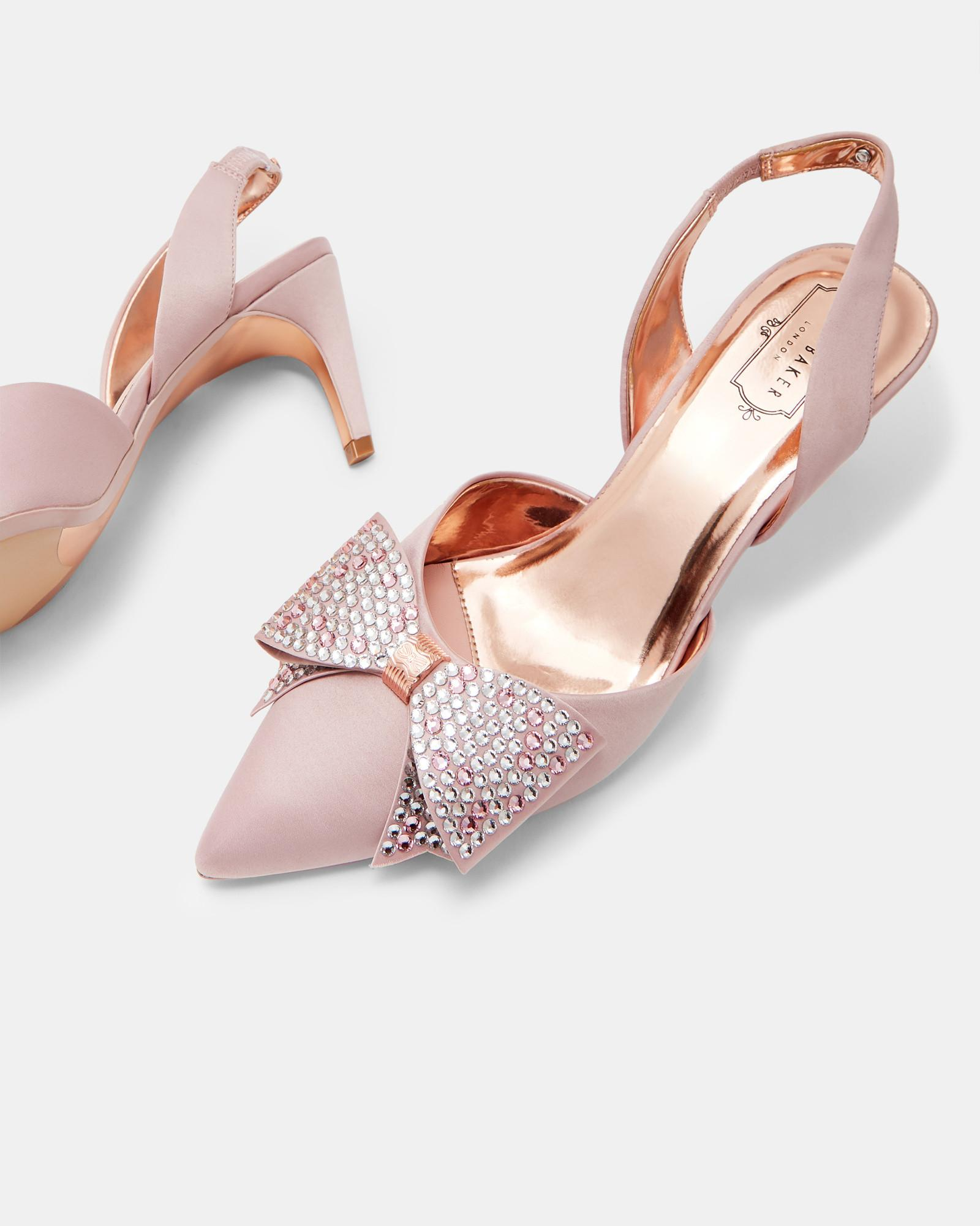 ed5639ec8 Ted Baker Crystal Bow Sling Back Courts in Pink - Lyst