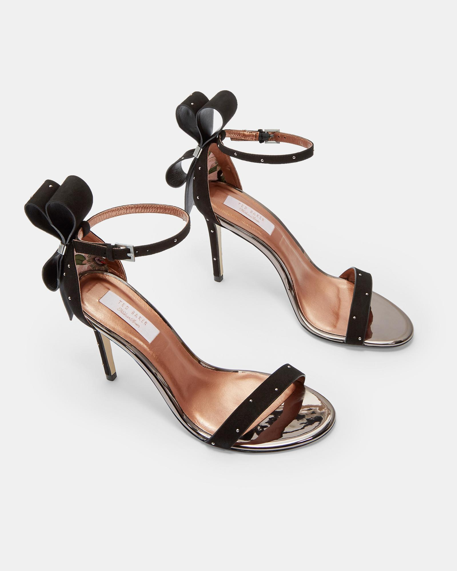6eb9c220b Lyst - Ted Baker Oversized Bow Sandals in Black
