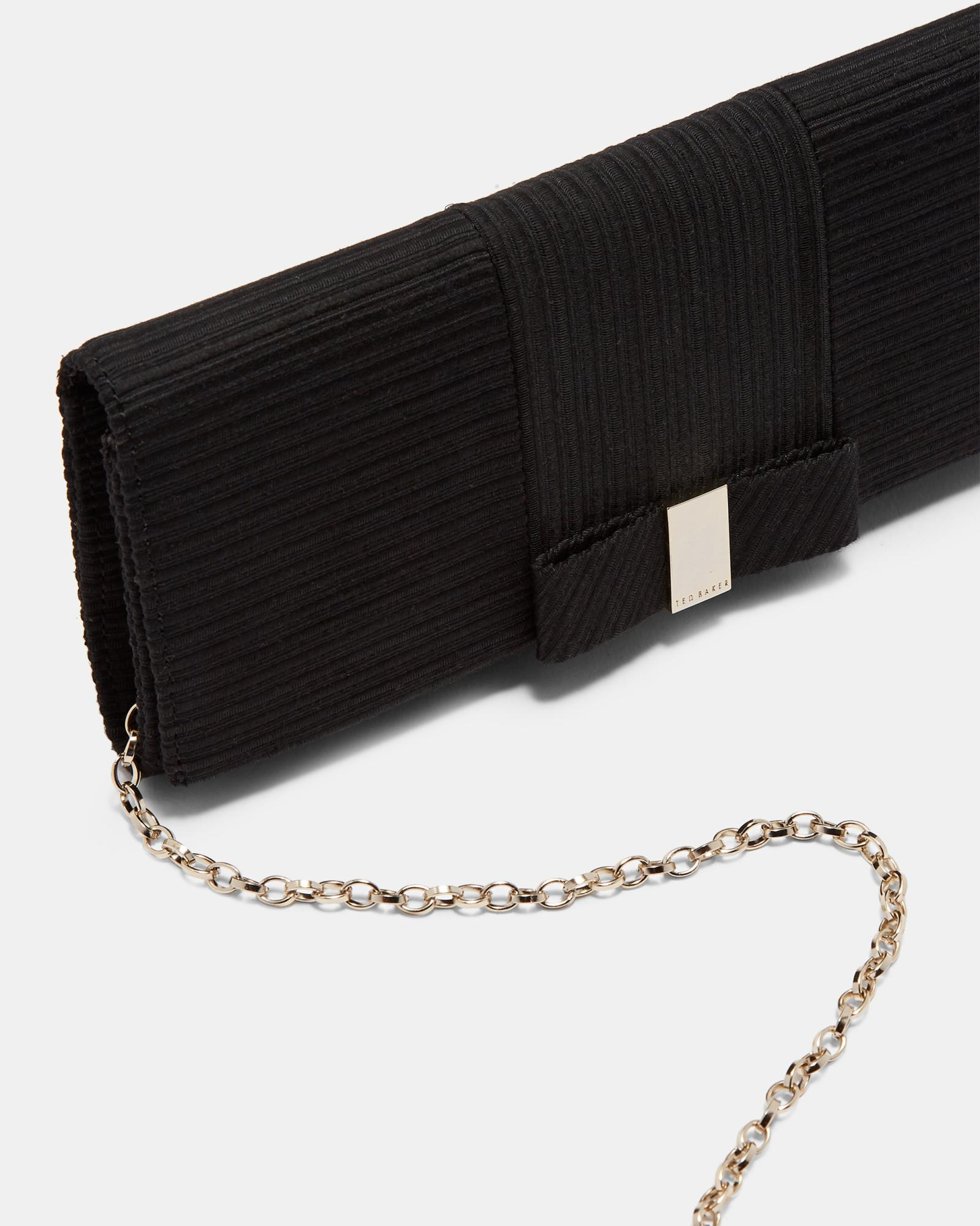 108f631747 Ted Baker - Black Flat Bow Evening Bag - Lyst. View fullscreen