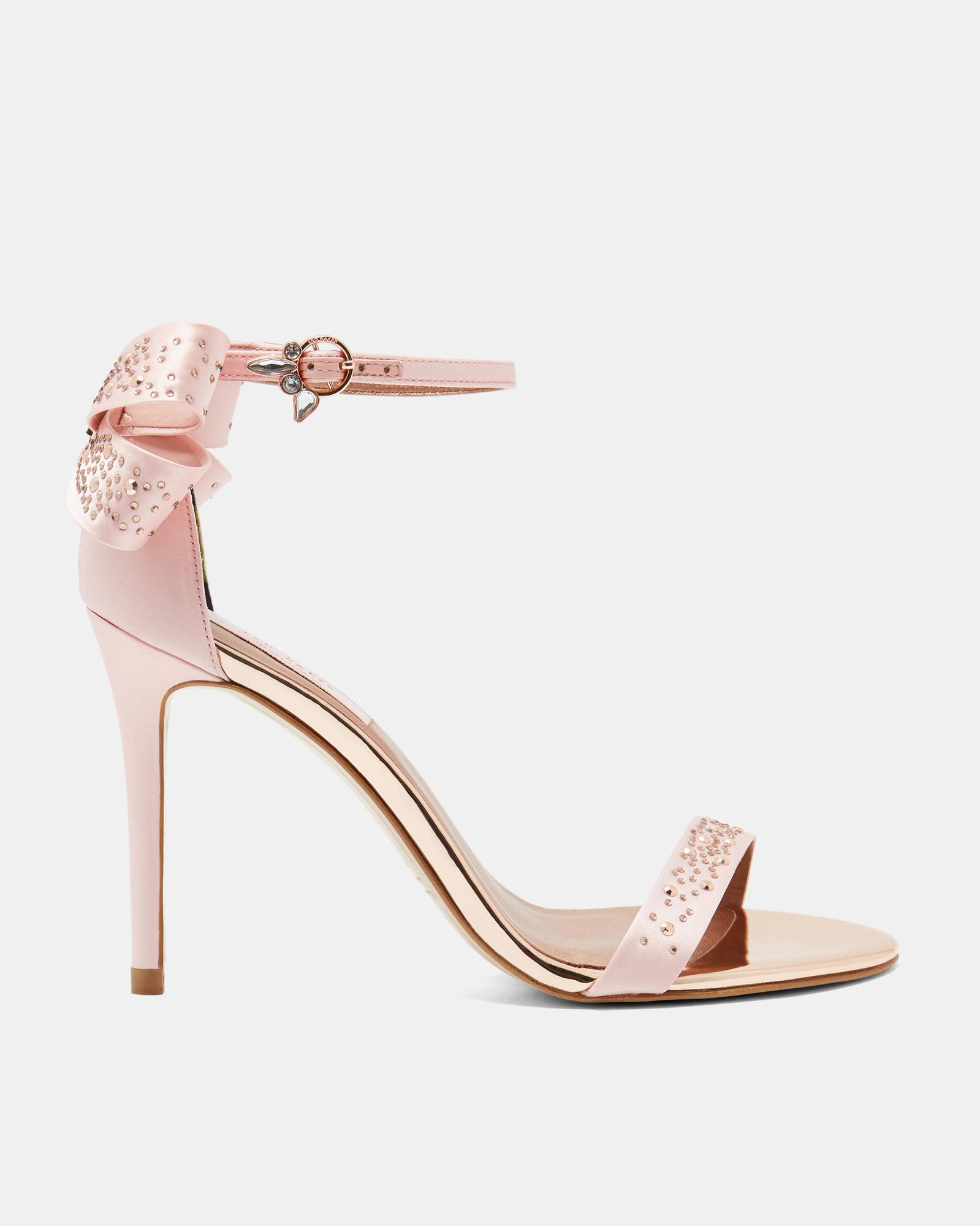 fe554d4d06df Ted Baker Oversized Bow Crystal Sandals in Pink - Lyst