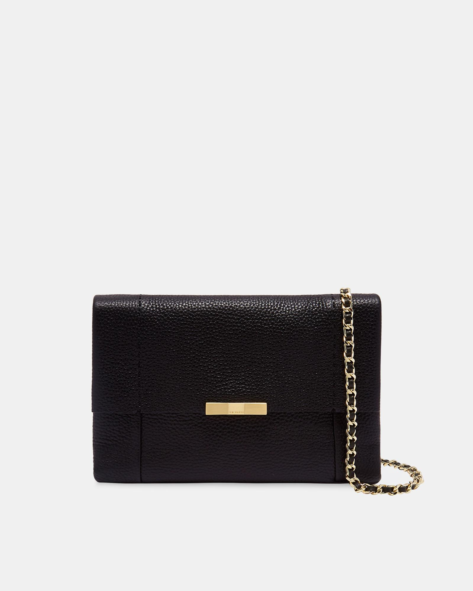 a872d58d2 Ted Baker Leather Cross Body Bag in Black - Lyst