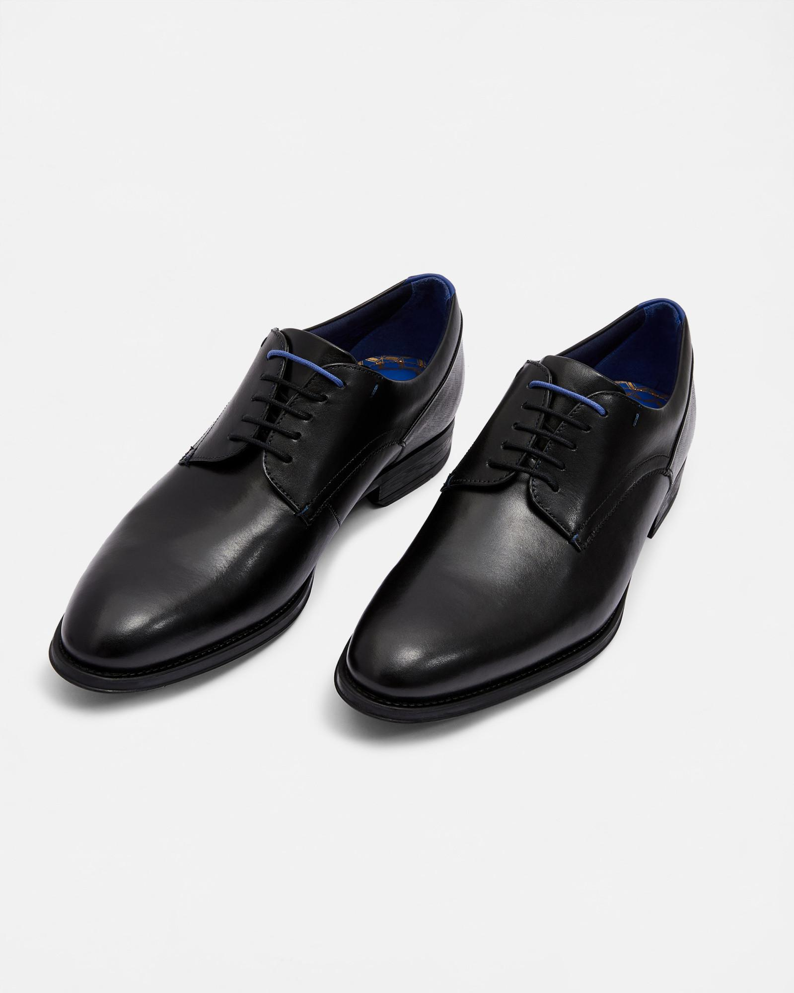 2bd104483f3b77 Lyst - Ted Baker Leather Derby Shoes in Black for Men