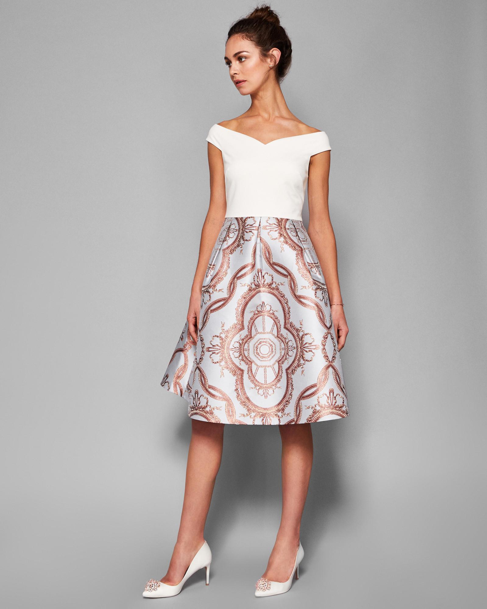 53c49c840c42 Lyst - Ted Baker Versailles Jacquard Full Skirted Dress