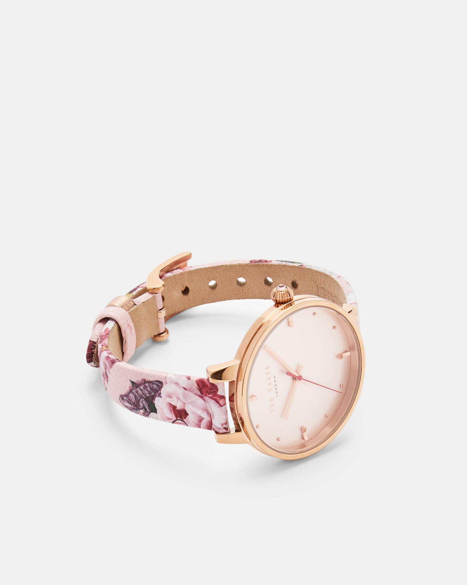 900bf30b3 Lyst - Ted Baker Iguazu Strap Watch in Pink