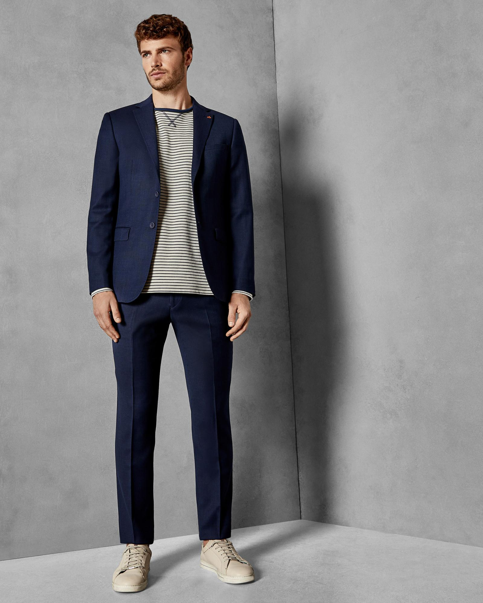 6562f043d574 Lyst - Ted Baker Endurance Birdseye Wool Performance Suit Jacket in Blue  for Men