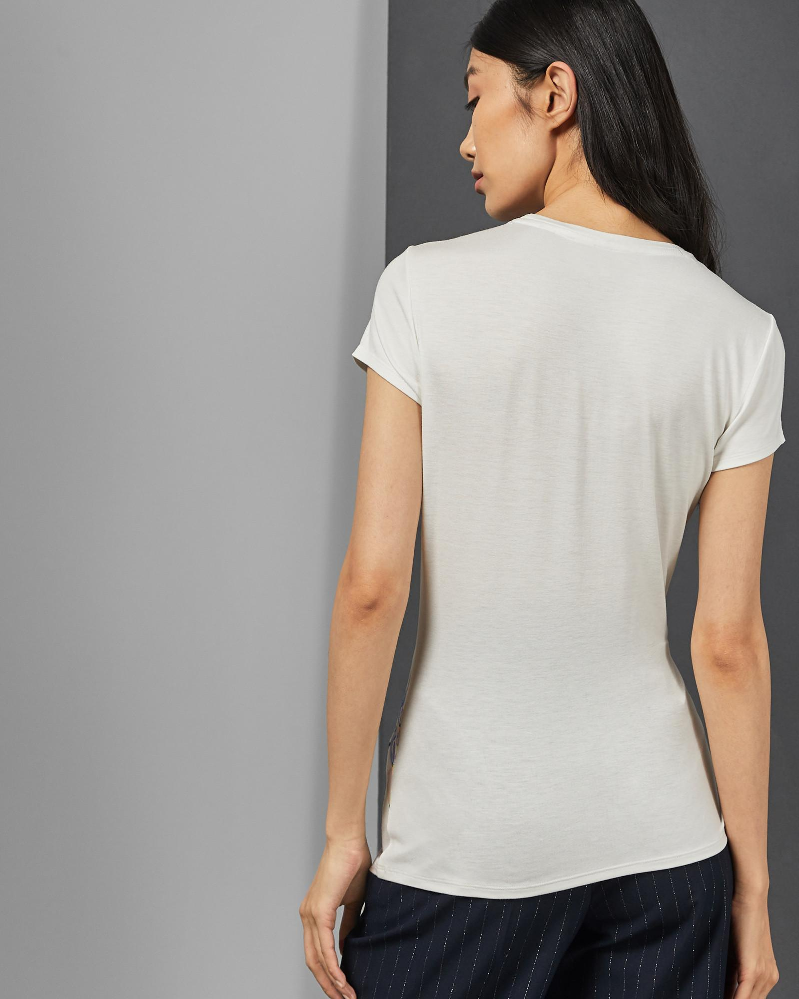 54ad60fd3 Ted Baker - White Bobiiee Elegance Tee - Lyst. View fullscreen