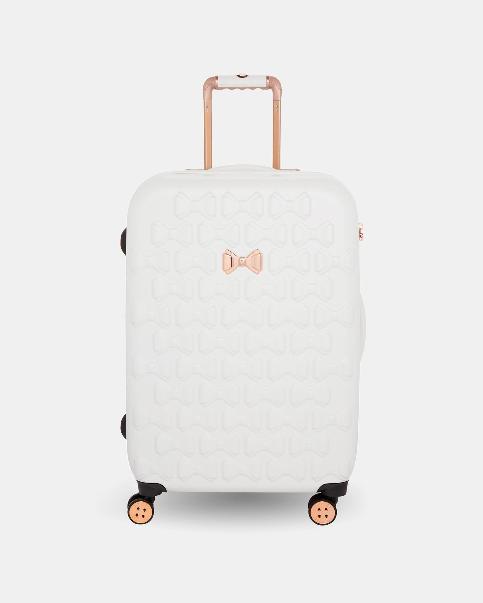 ef5e511832 Ted Baker Bow Detail Medium Suitcase in White - Lyst