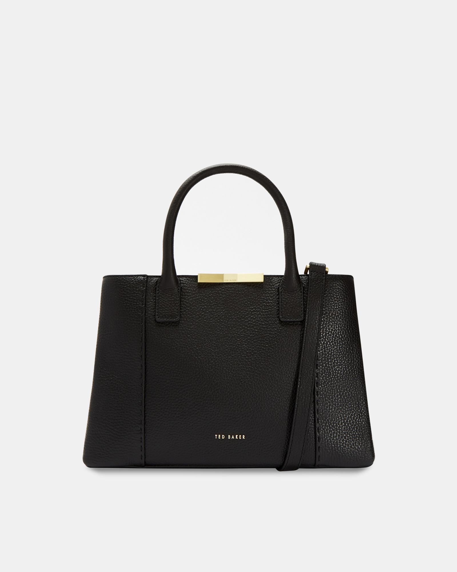 f44f9e7571 Ted Baker Soft Leather Small Tote Bag in Black - Lyst