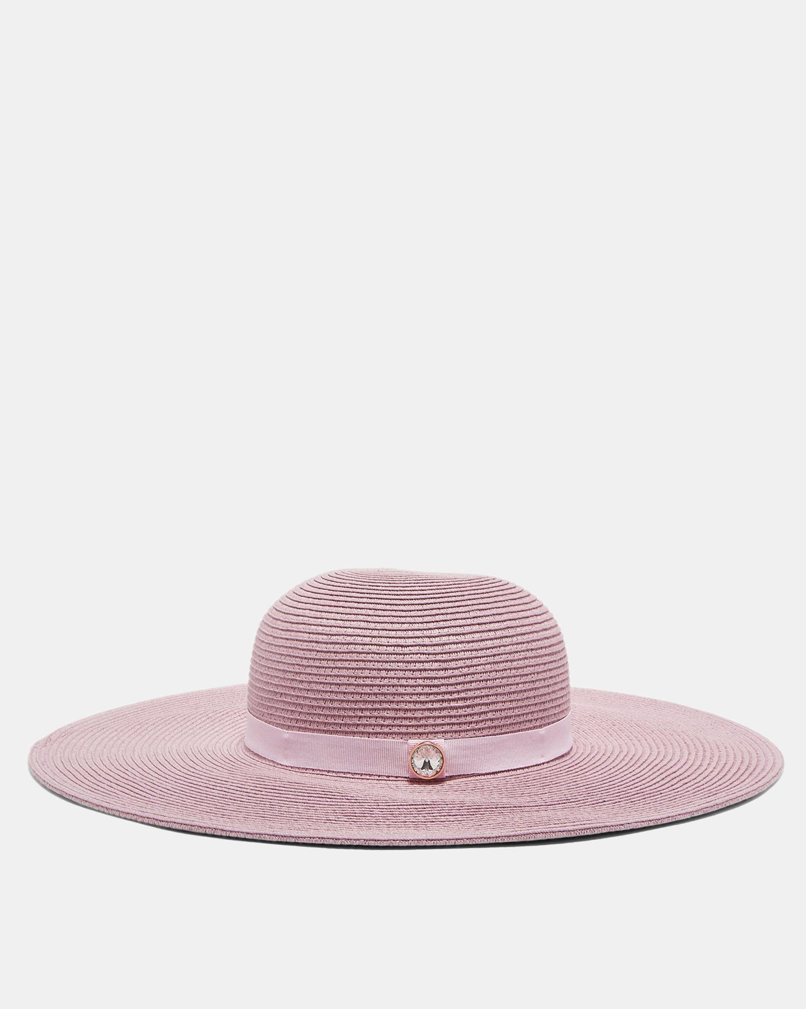 5f471f3afea2e Lyst - Ted Baker Gem Detail Floppy Hat in Pink