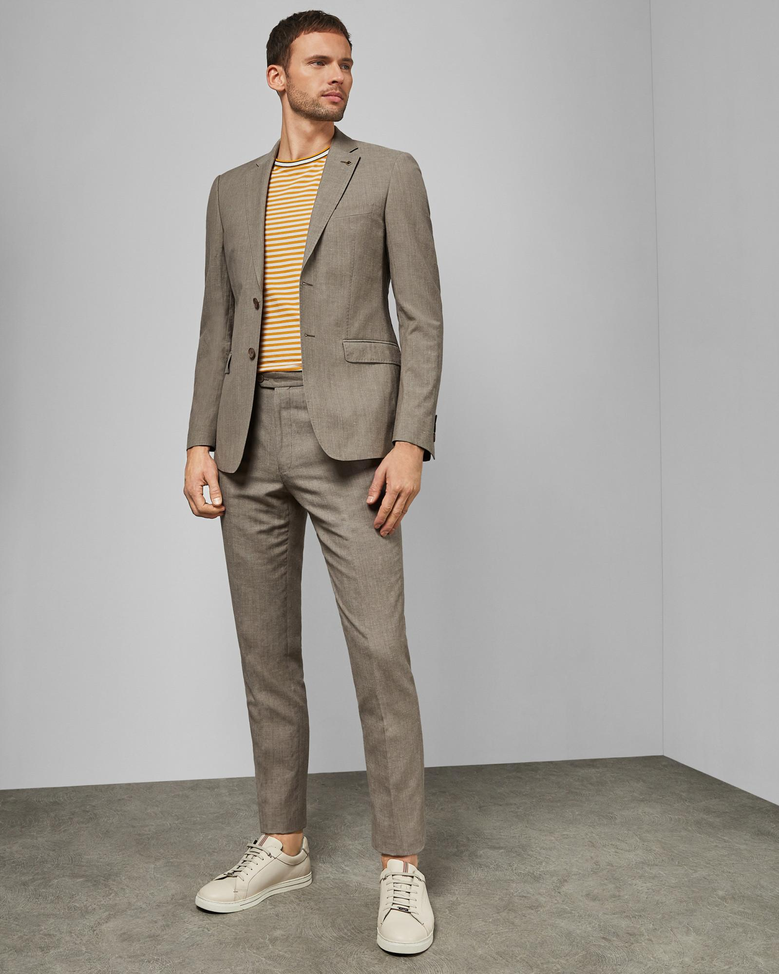 7b2fc4c7c Lyst - Ted Baker Debonair Slim Fit Linen Blend Jacket for Men