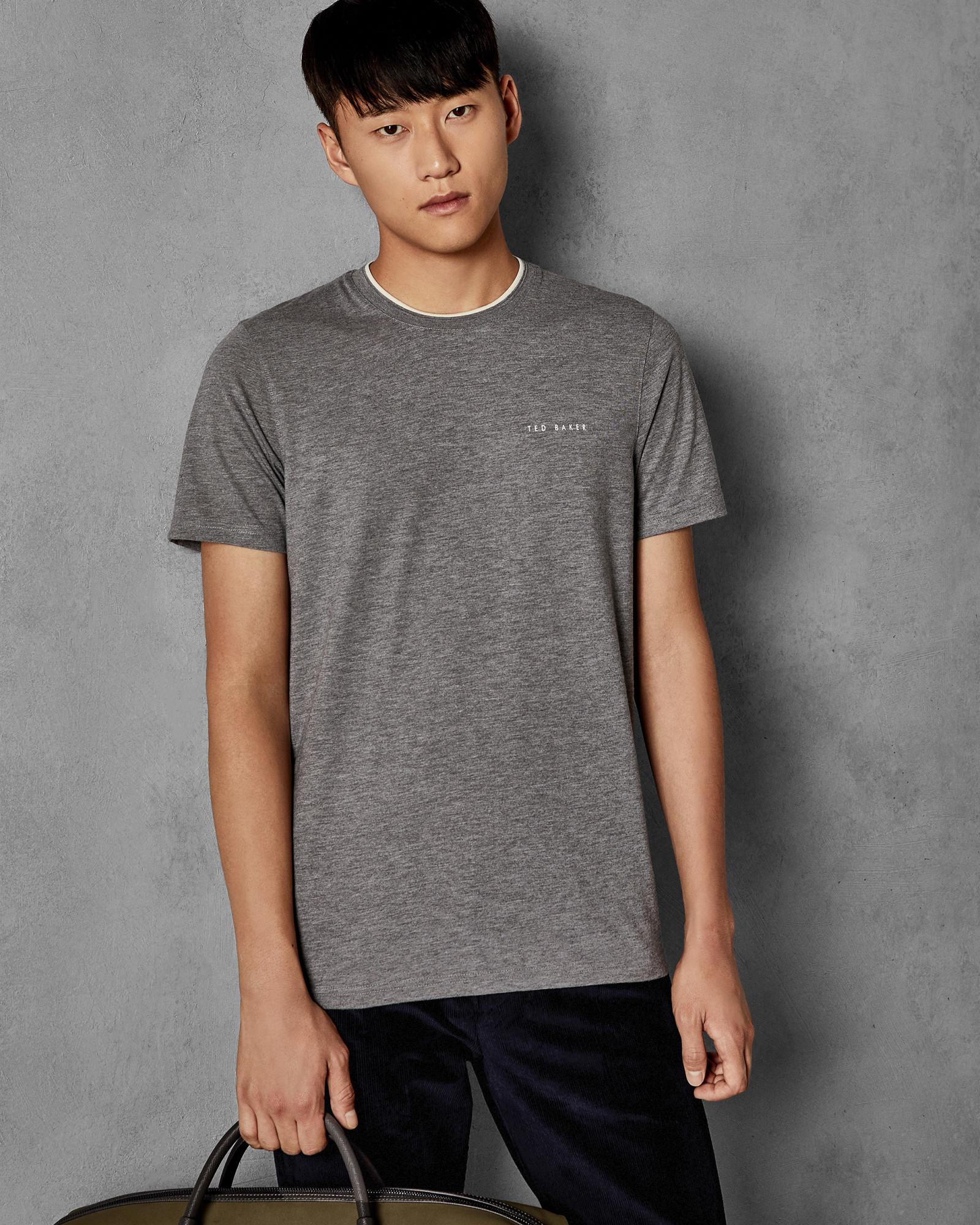 fce06ed444df26 Lyst - Ted Baker Branded T-shirt in Gray for Men