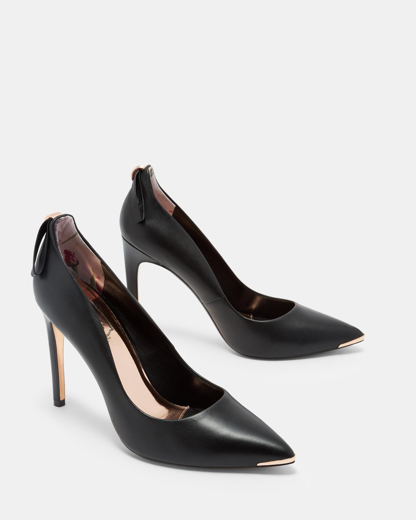 11c48ca2ed6751 Lyst - Ted Baker Bow Detail Pointed Courts in Black
