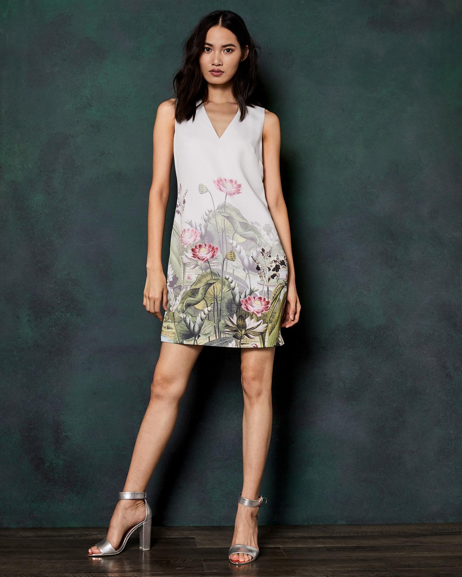 b44d990ea Ted Baker Wonderland Waterfall Dress in White - Save 30% - Lyst