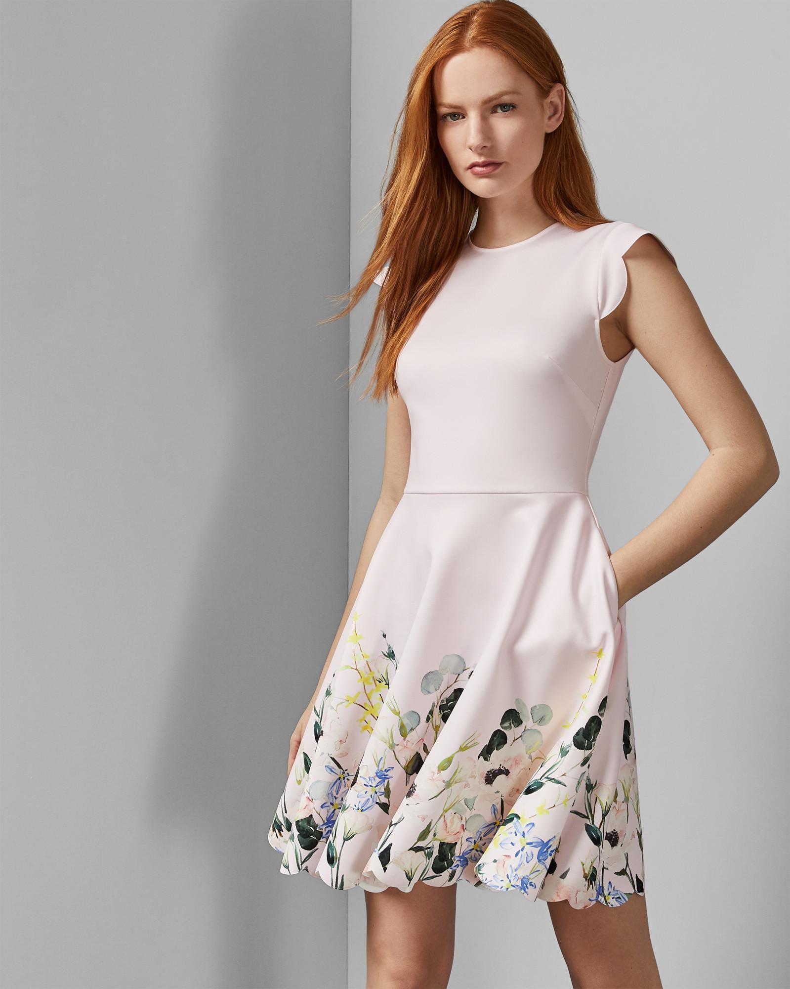 b830255ef066f5 Ted Baker Pink Bridgt Elegance - Print Dress. View fullscreen