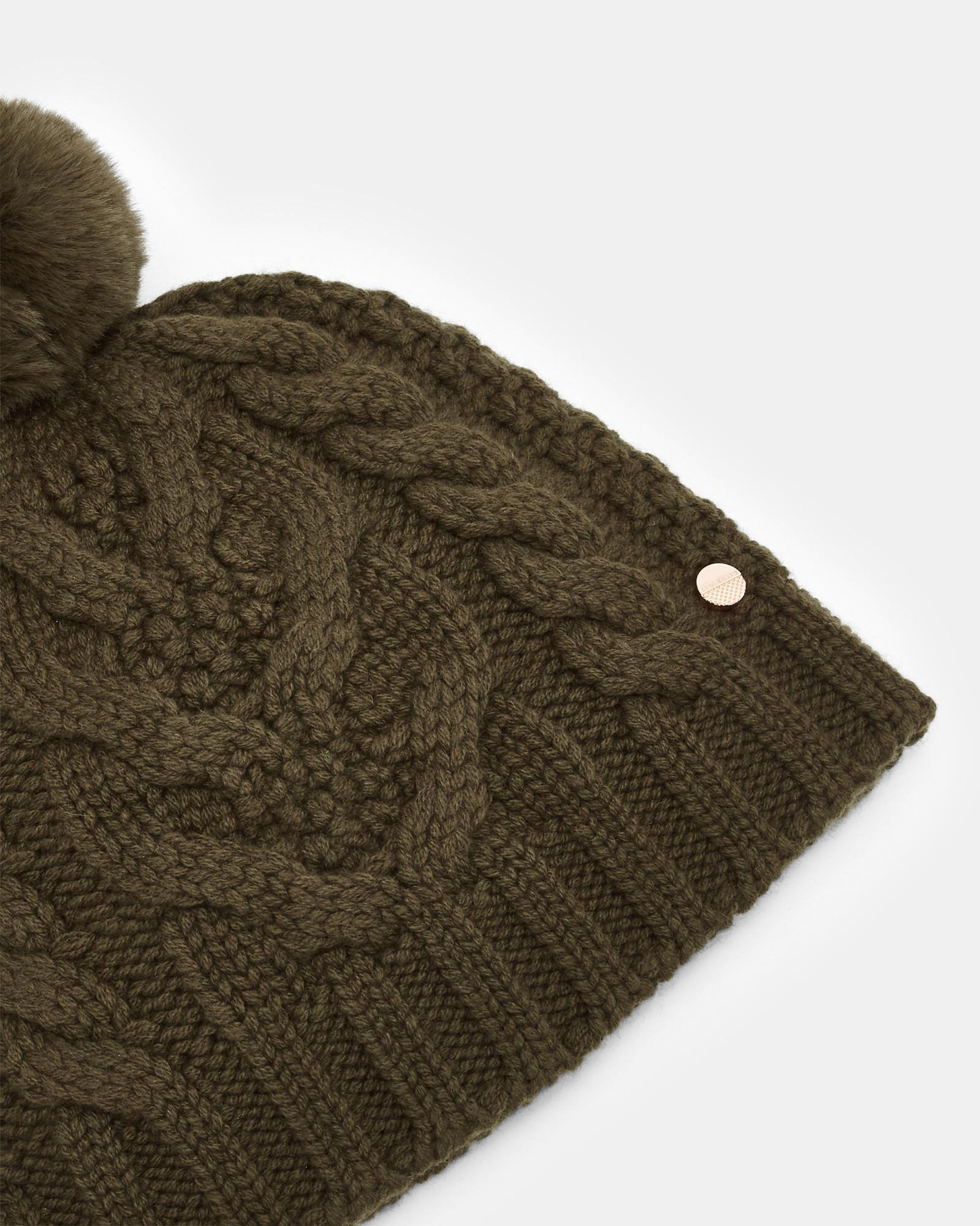 918530960 Lyst - Ted Baker Cable Knit Beanie - in Green