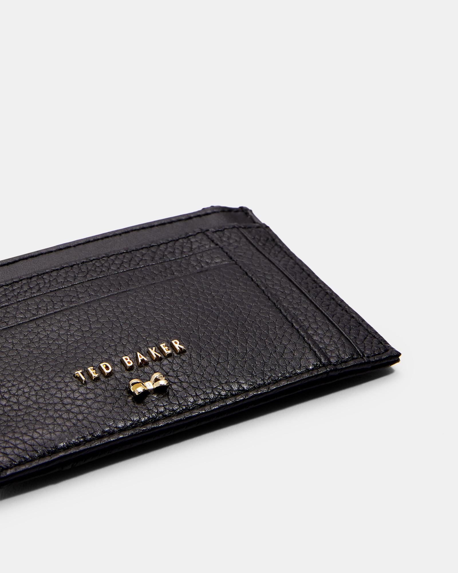 69f60b467424 Lyst - Ted Baker Double Sided Zipped Leather Card Holder in Black