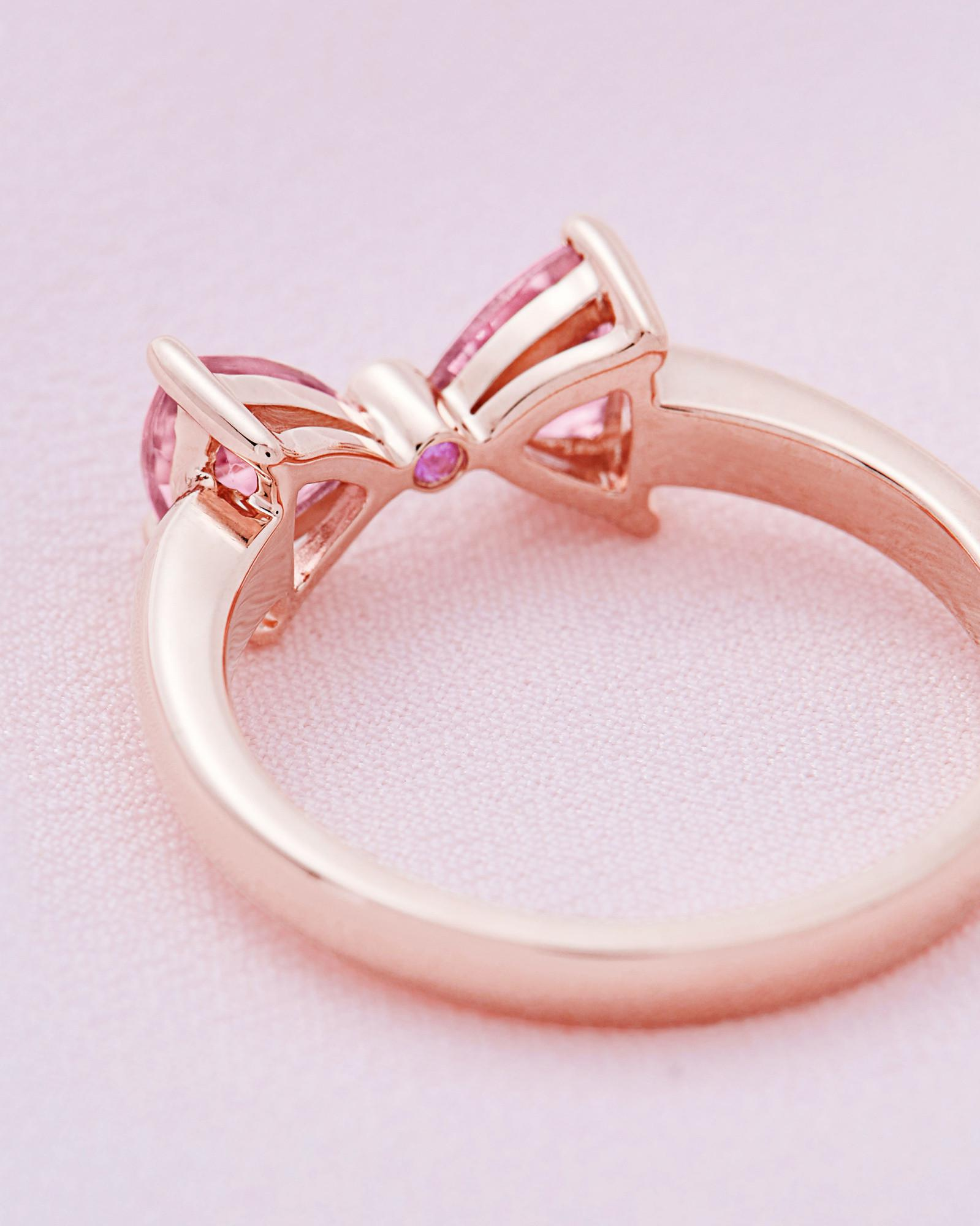 Ted Baker 9ct Rose Gold, Pink Tourmaline And Diamond Ring in Pink - Lyst