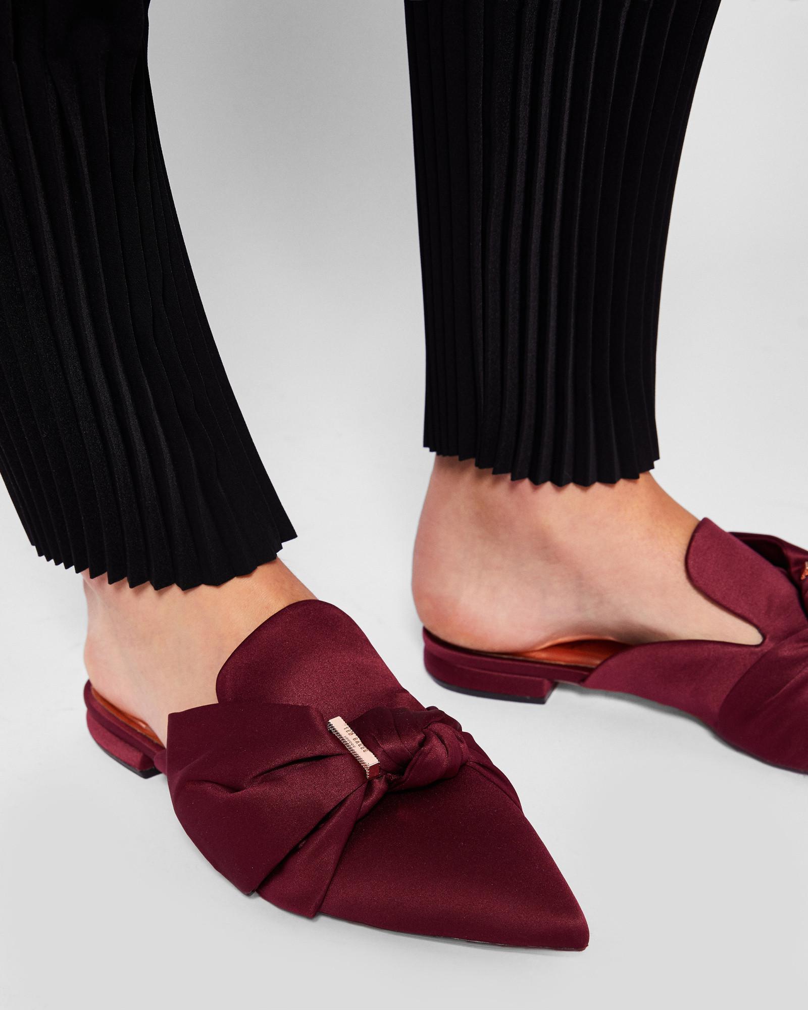56433dd3b13 ted baker women shoes ted baker tulous satin bow loafers black women ...