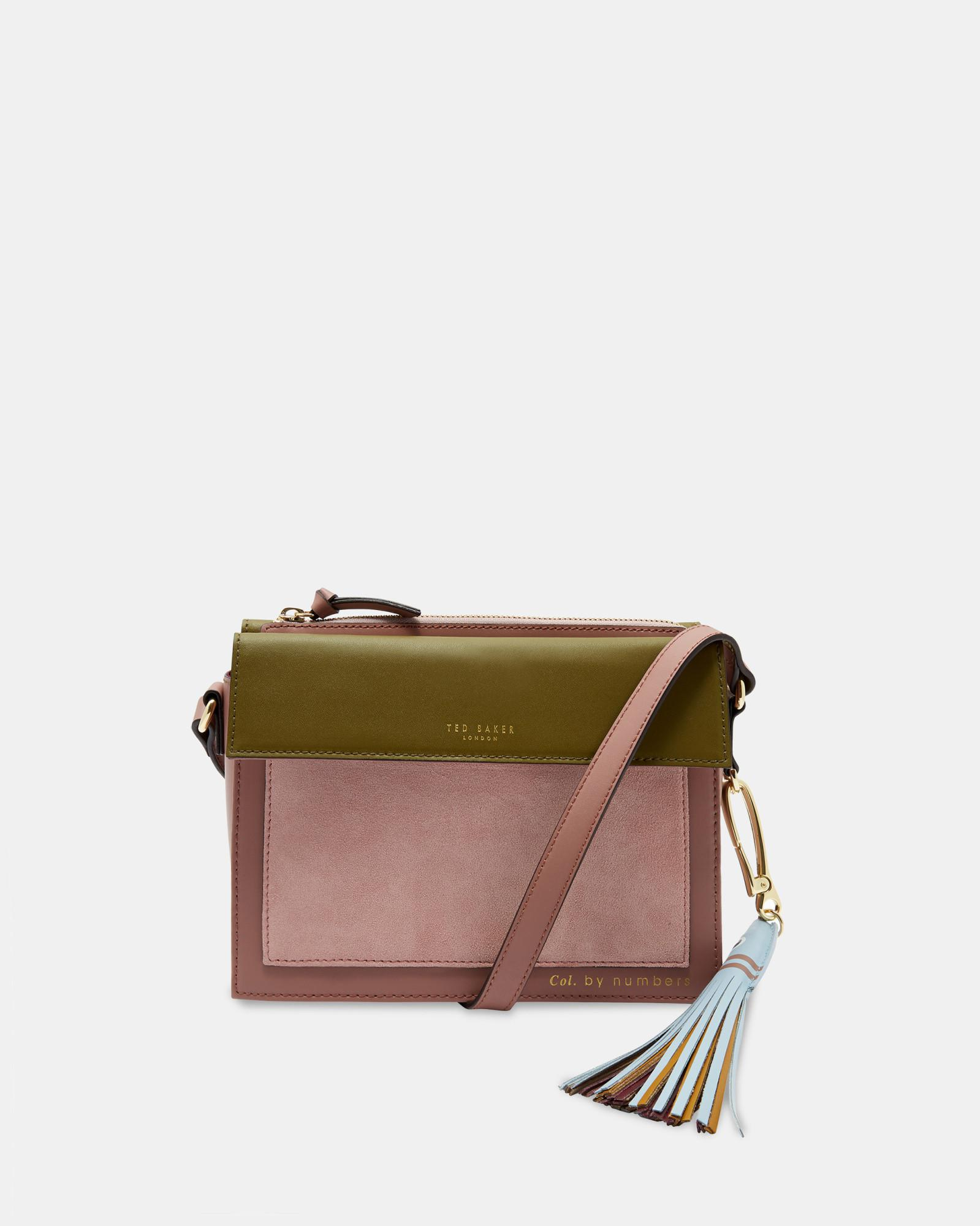 6f4313e2a Ted Baker Leather Cross Body Bag in Pink - Lyst