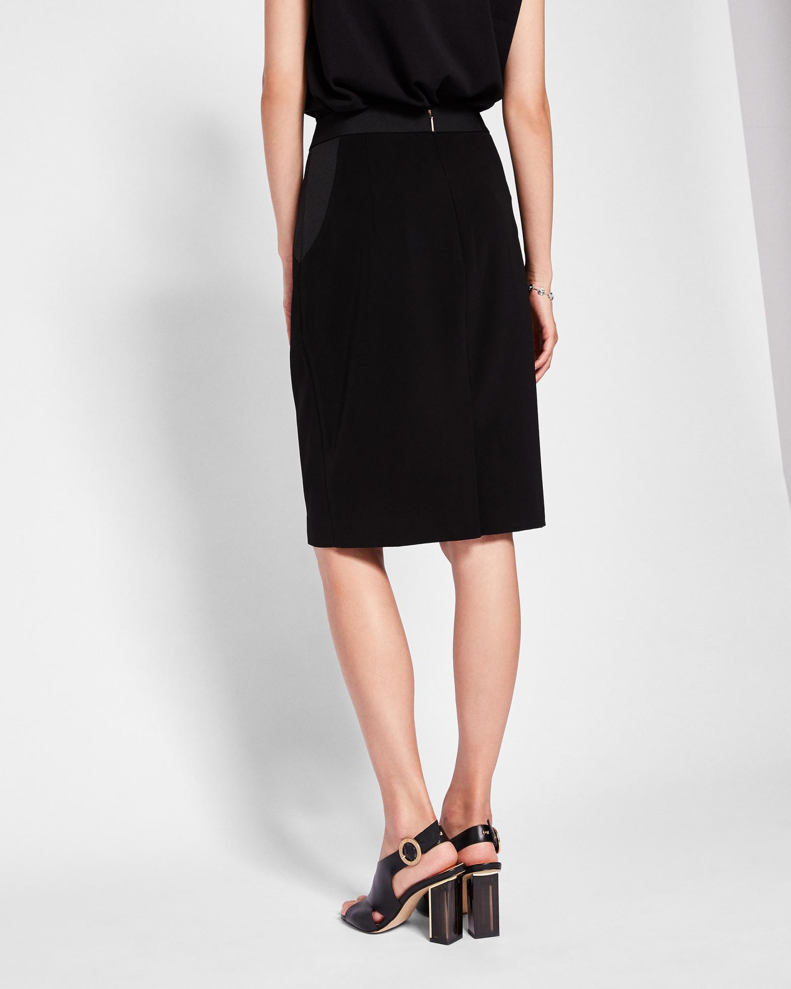 99b437c3d9fafb Lyst - Ted Baker Ottoman Contrast Pencil Skirt in Black