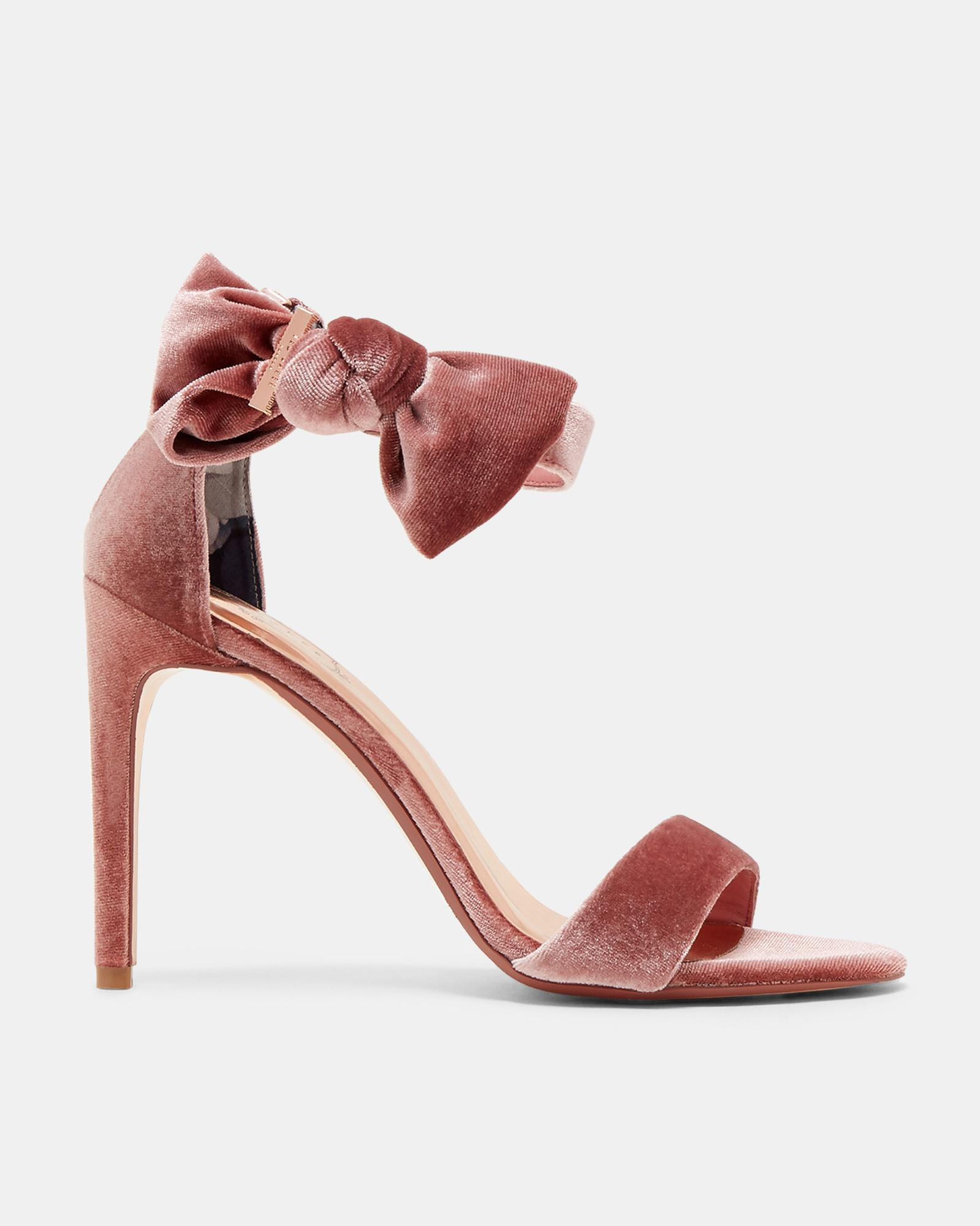 429490b352f Ted Baker Bow Detail Leather Sandals in Pink - Save ...