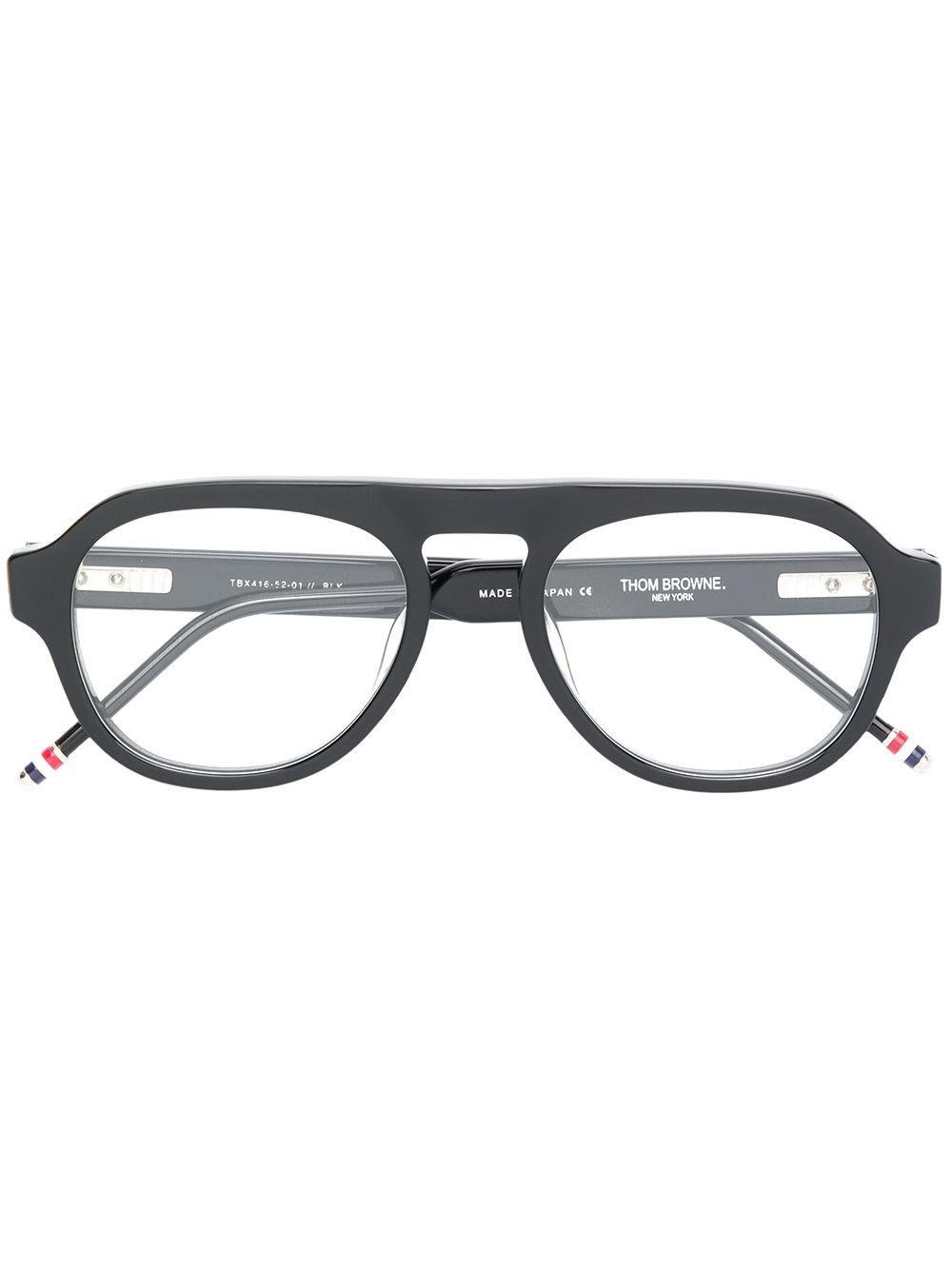 0be3ac7d0c1f Thom Browne Round Frame Glasses in Black for Men - Lyst
