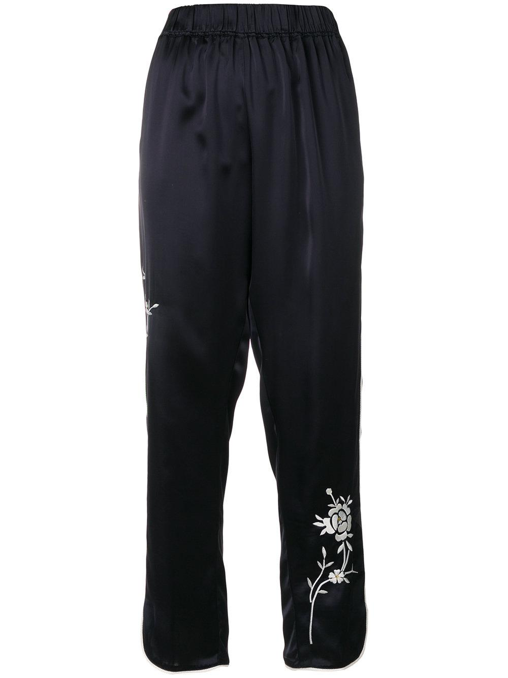floral relaxed fit trousers - Blue Forte_Forte MyehHUQ5