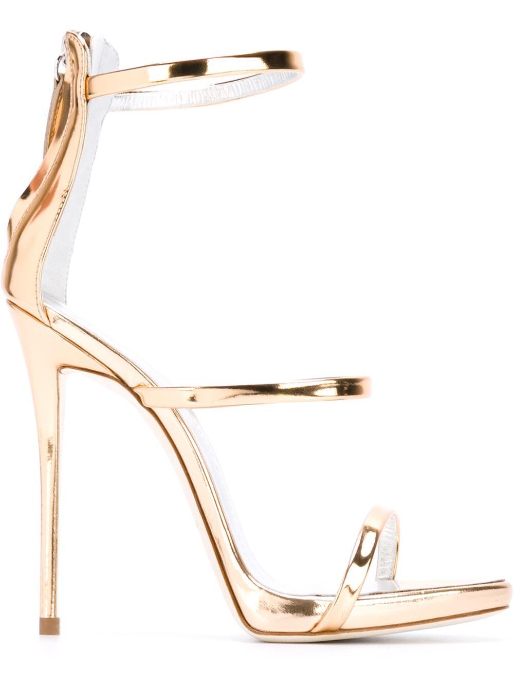 243ef4dbdfbe Lyst - Giuseppe Zanotti  harmony  Sandals in Metallic