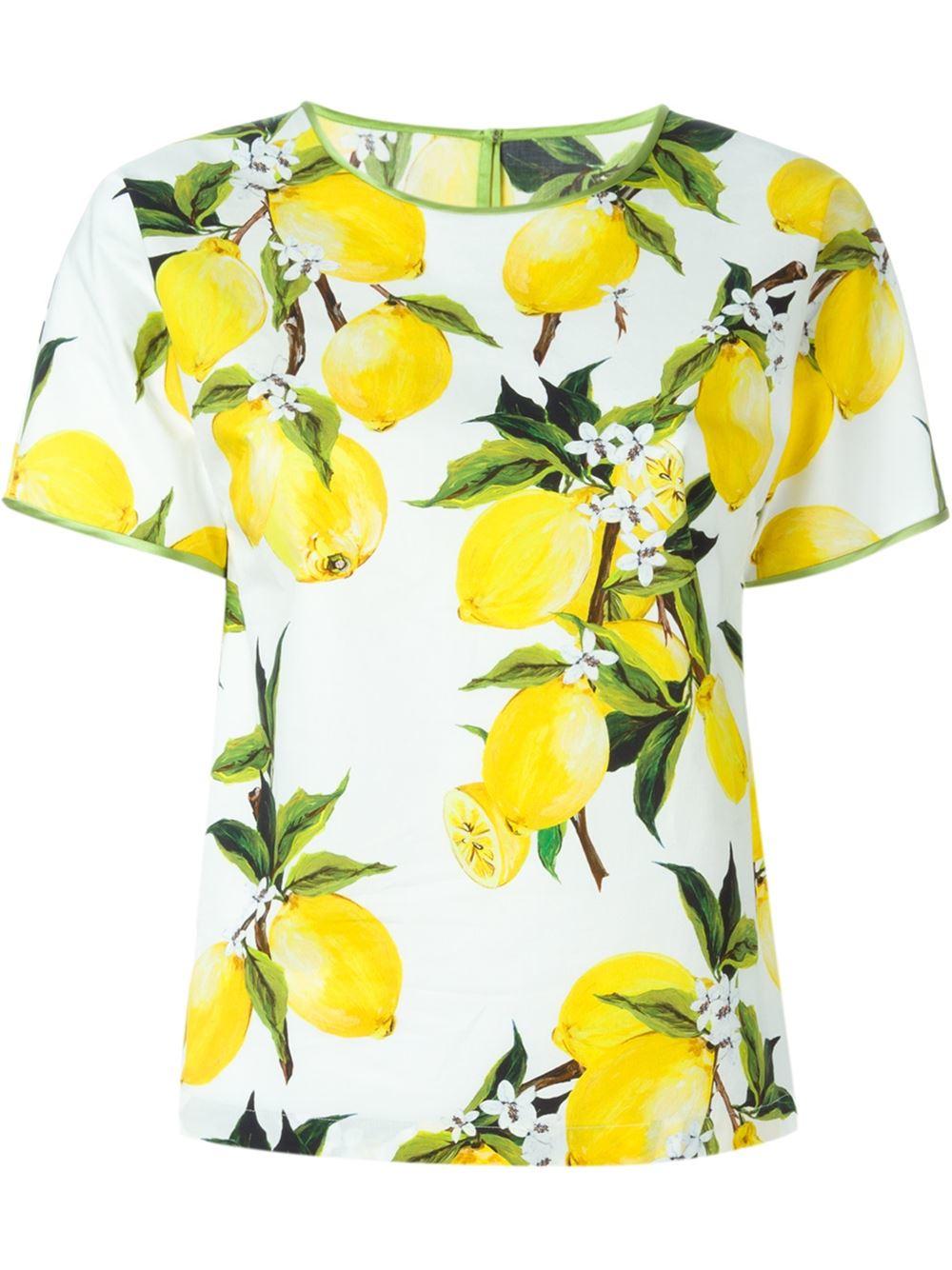 954a8a48 Dolce & Gabbana Lemon Print Top - Lyst