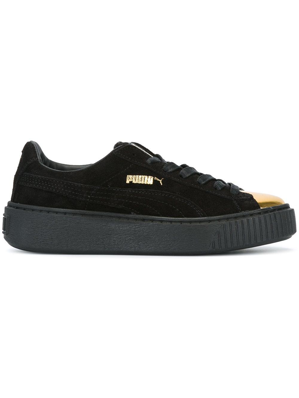 Puma Suede Platform Sneakers In Black Lyst