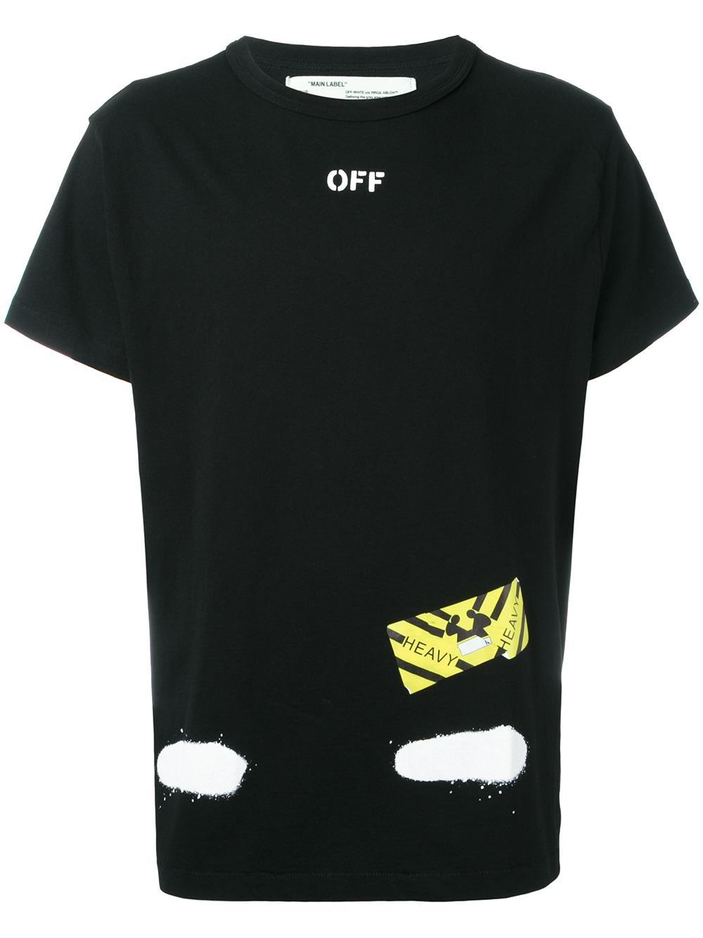 off white c o virgil abloh bicolor t shirt in black for men lyst. Black Bedroom Furniture Sets. Home Design Ideas