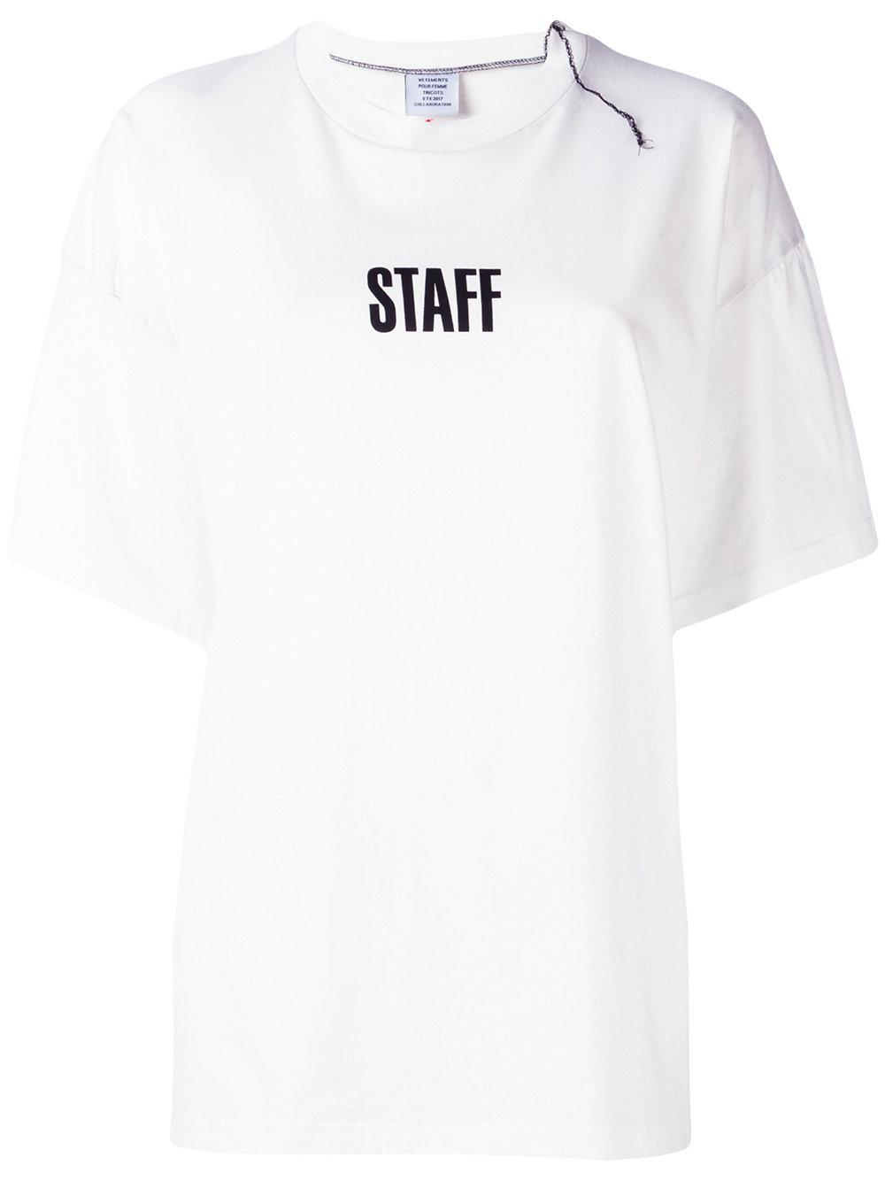 lyst vetements quick made oversized t shirt in white