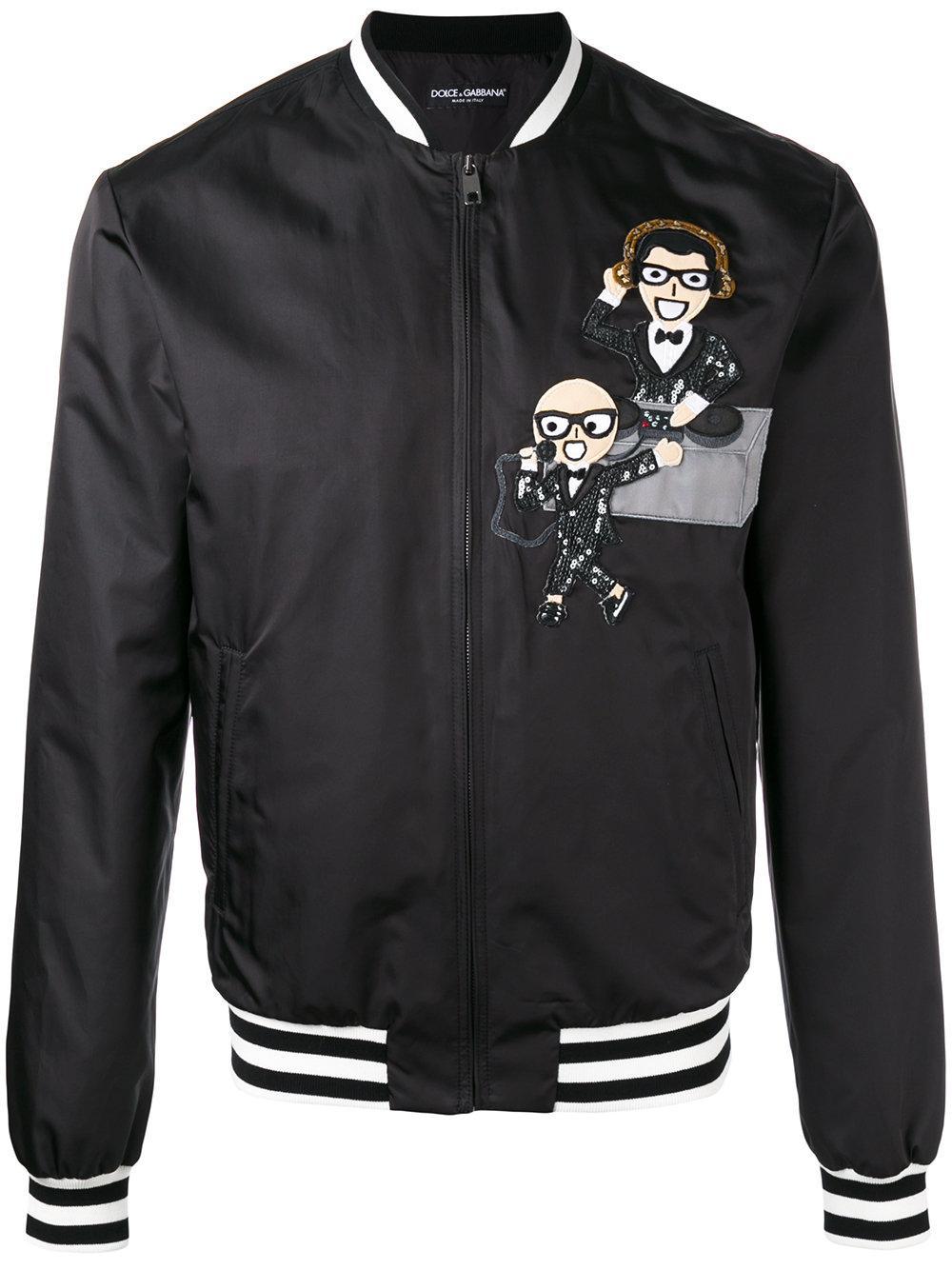 lyst dolce gabbana zip up jacket in black for men. Black Bedroom Furniture Sets. Home Design Ideas
