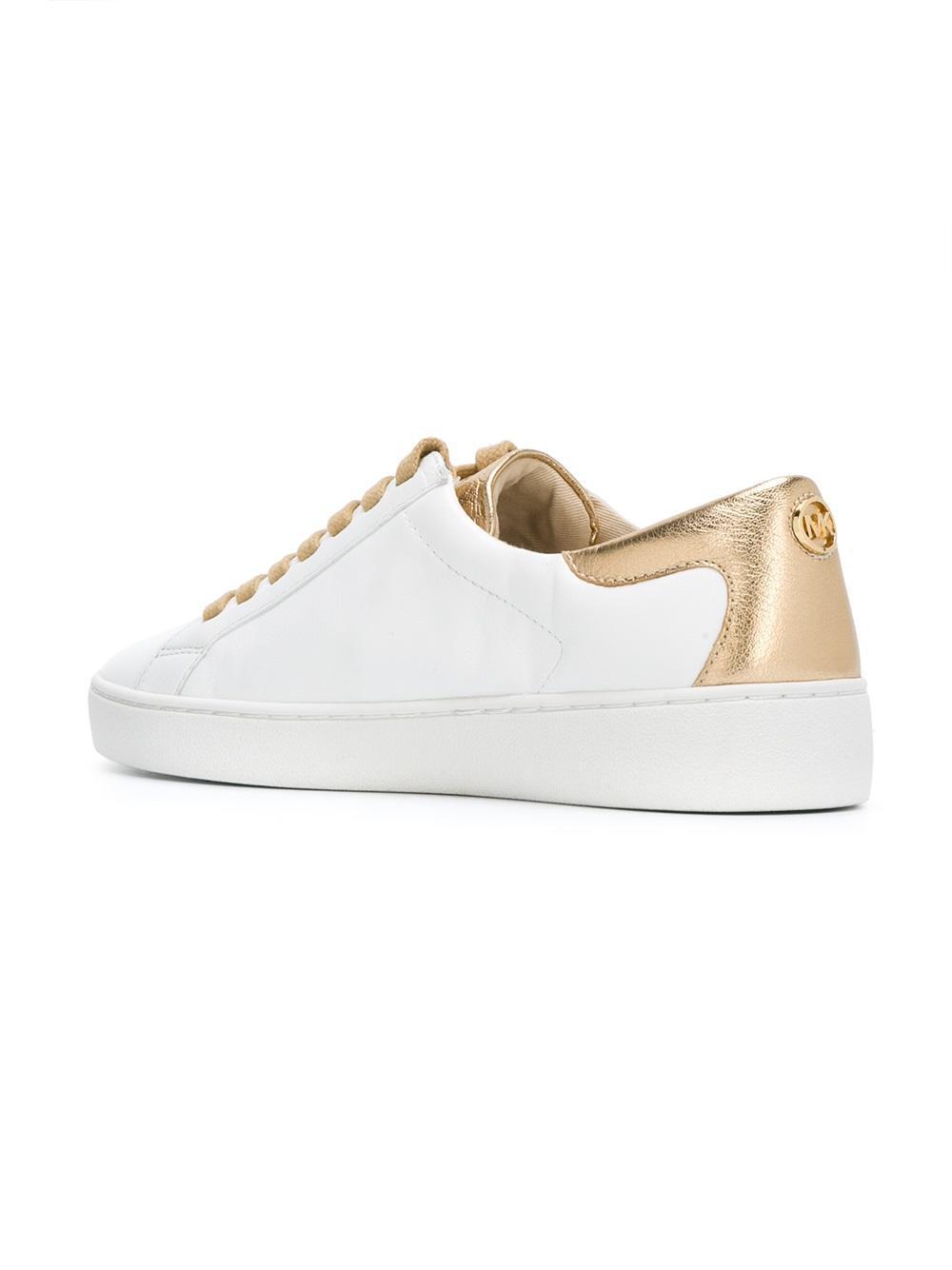 91d563053626 Lyst - MICHAEL Michael Kors Gold Flowers Lola Sneakers in Metallic