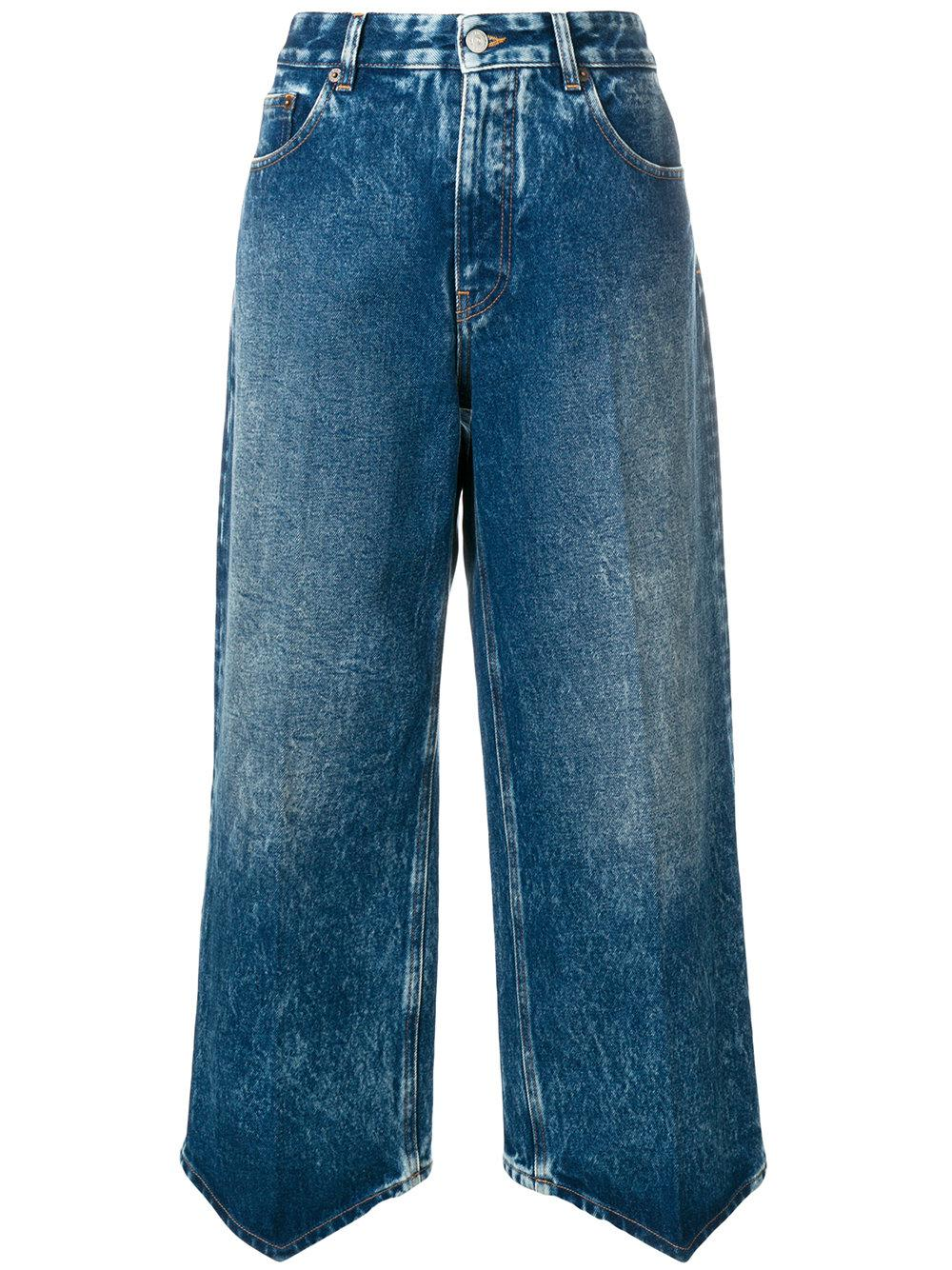 high-rise cropped jeans - Blue Maison Martin Margiela