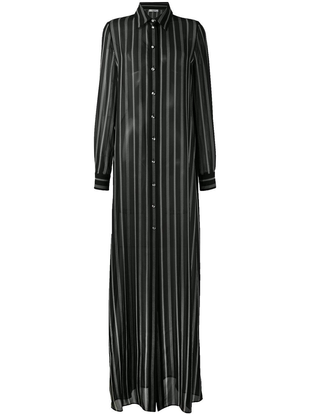 Lyst Lanvin Striped Maxi Shirt Dress In Black