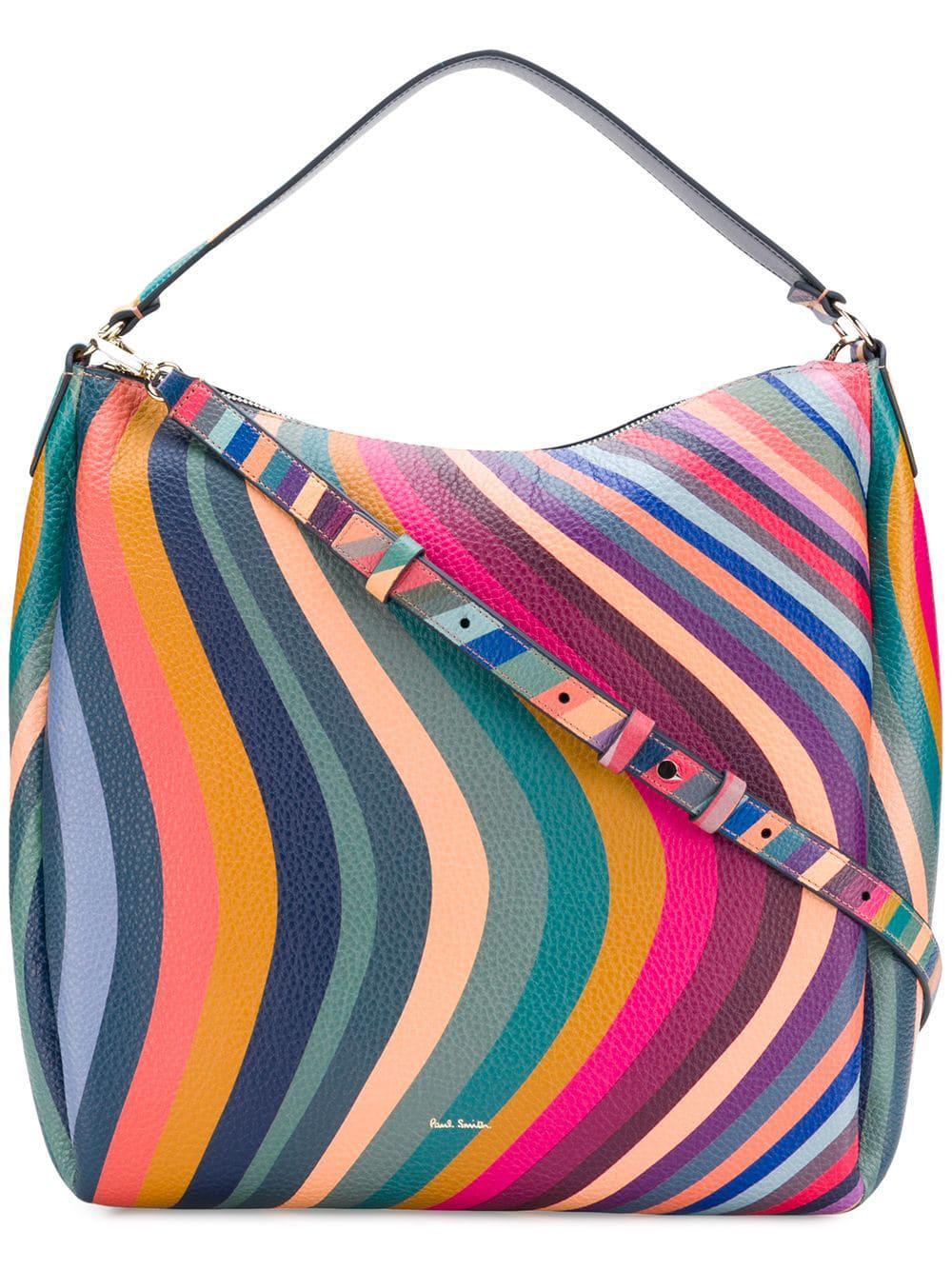 Paul Smith - Multicolor Swirl Zip Hobo Bag -  premium selection a3c0c 89e5d Paul  Smith - Multicolor Zip Hobo Bag - Lyst. bd15278037fd4