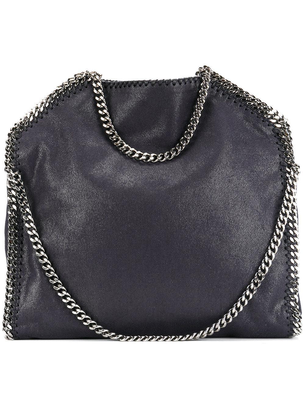 Lyst - Stella McCartney Falabella 3chain Small Tote Bag in Blue ... d56b41b1fc0d9