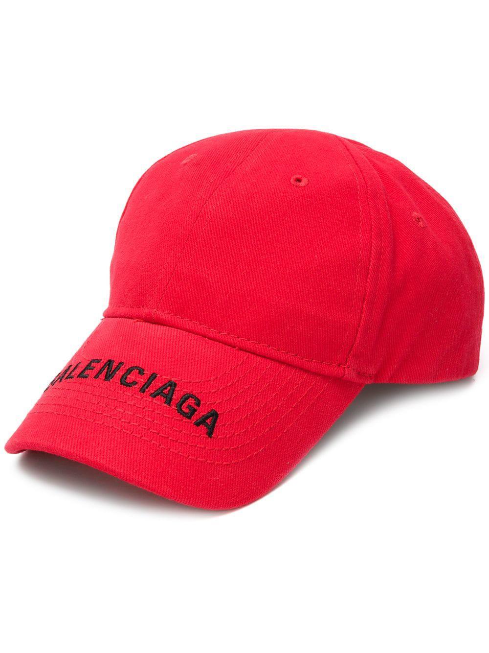 94da44baeeb Balenciaga Baseball Logo Hat in Red - Lyst
