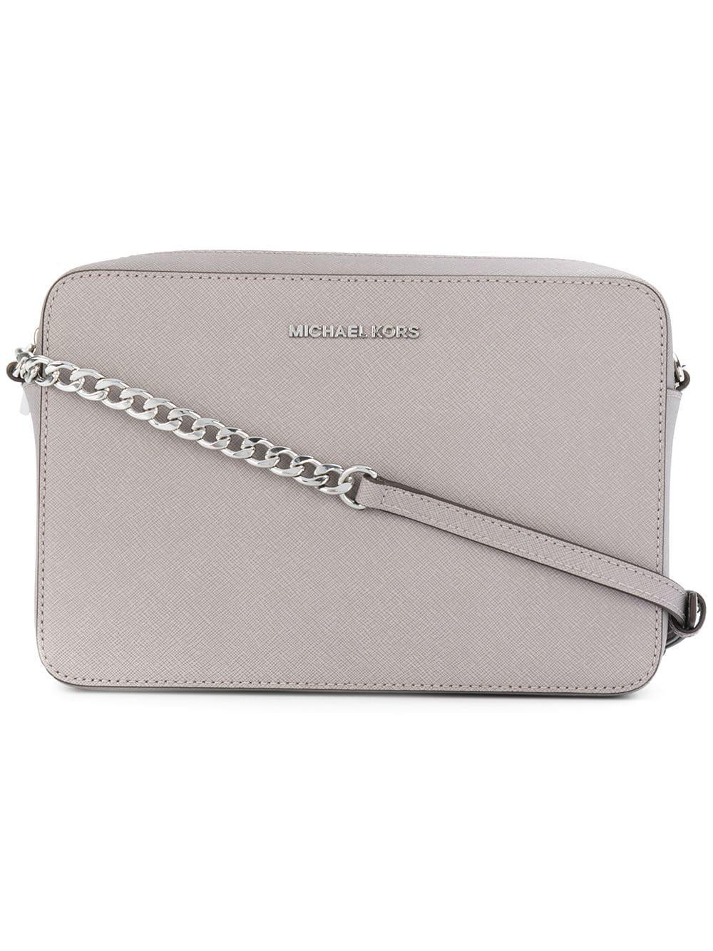 Lyst - Michael Michael Kors Leather Crossbody Bag in Gray 5adeb35b5b816