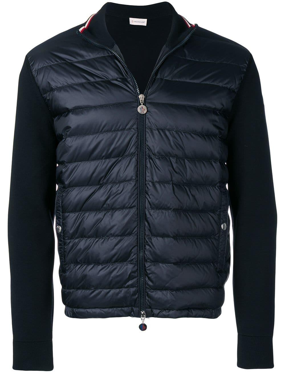 7a47124b4 Lyst - Moncler Logo Tricot Cardigan in Blue for Men