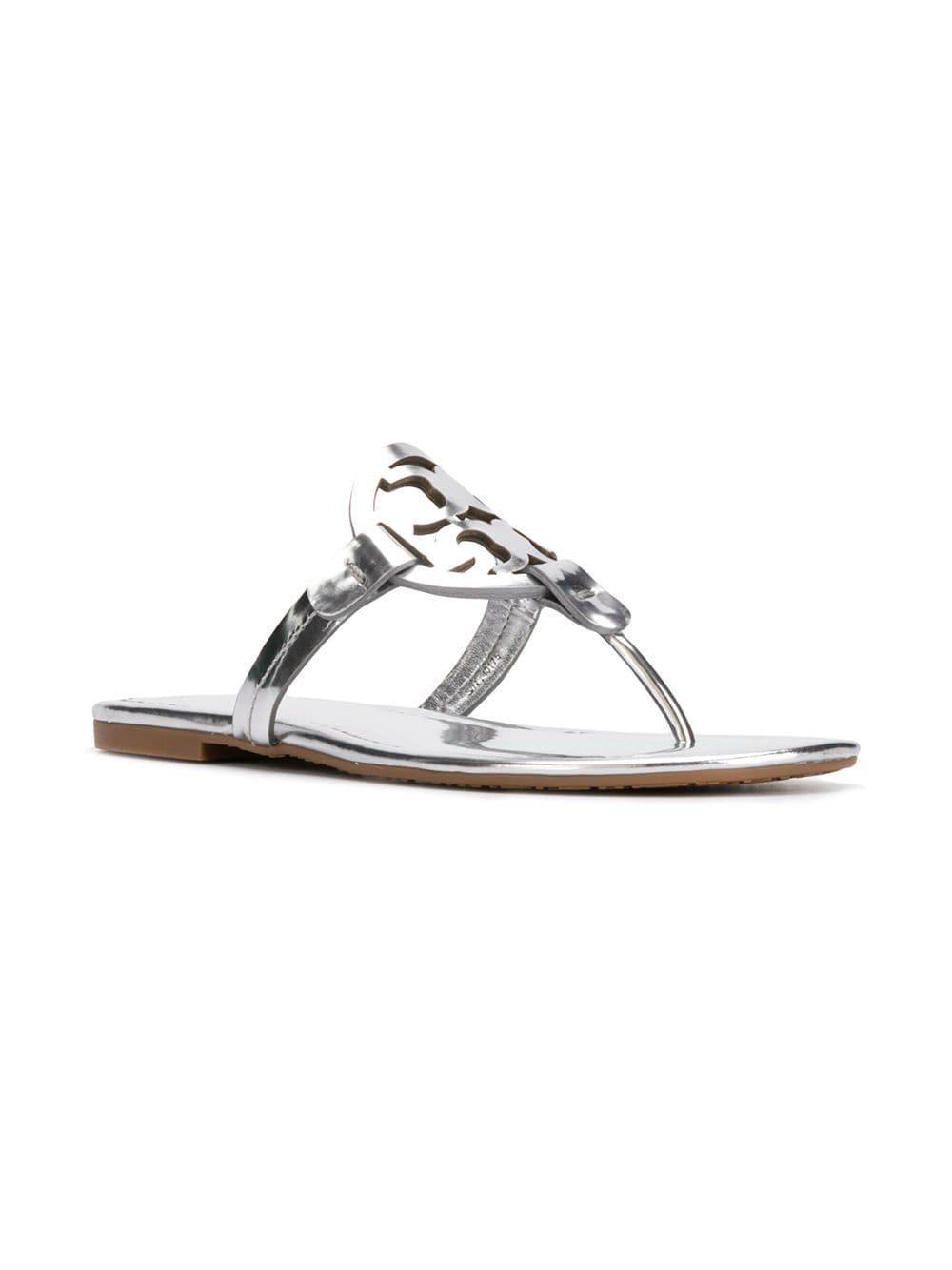 ca52206ec6a Tory Burch - Metallic Miller Leather Sandals - Lyst. View fullscreen